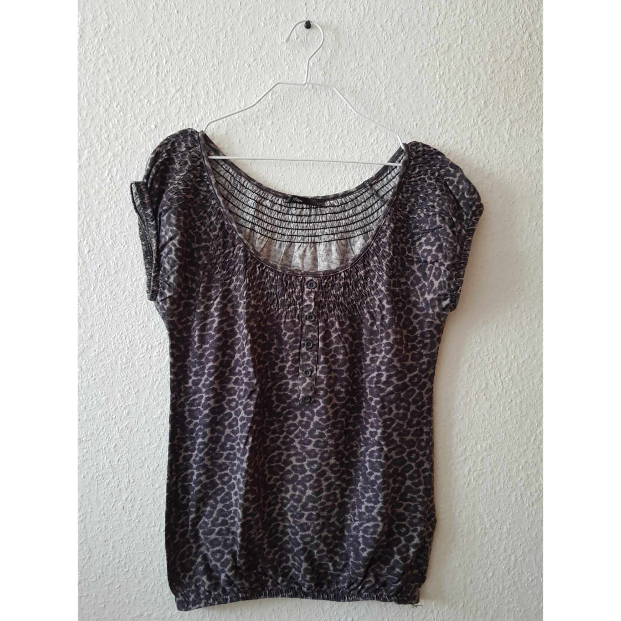 Top, tee-shirt MIM Violet, mauve, lavande