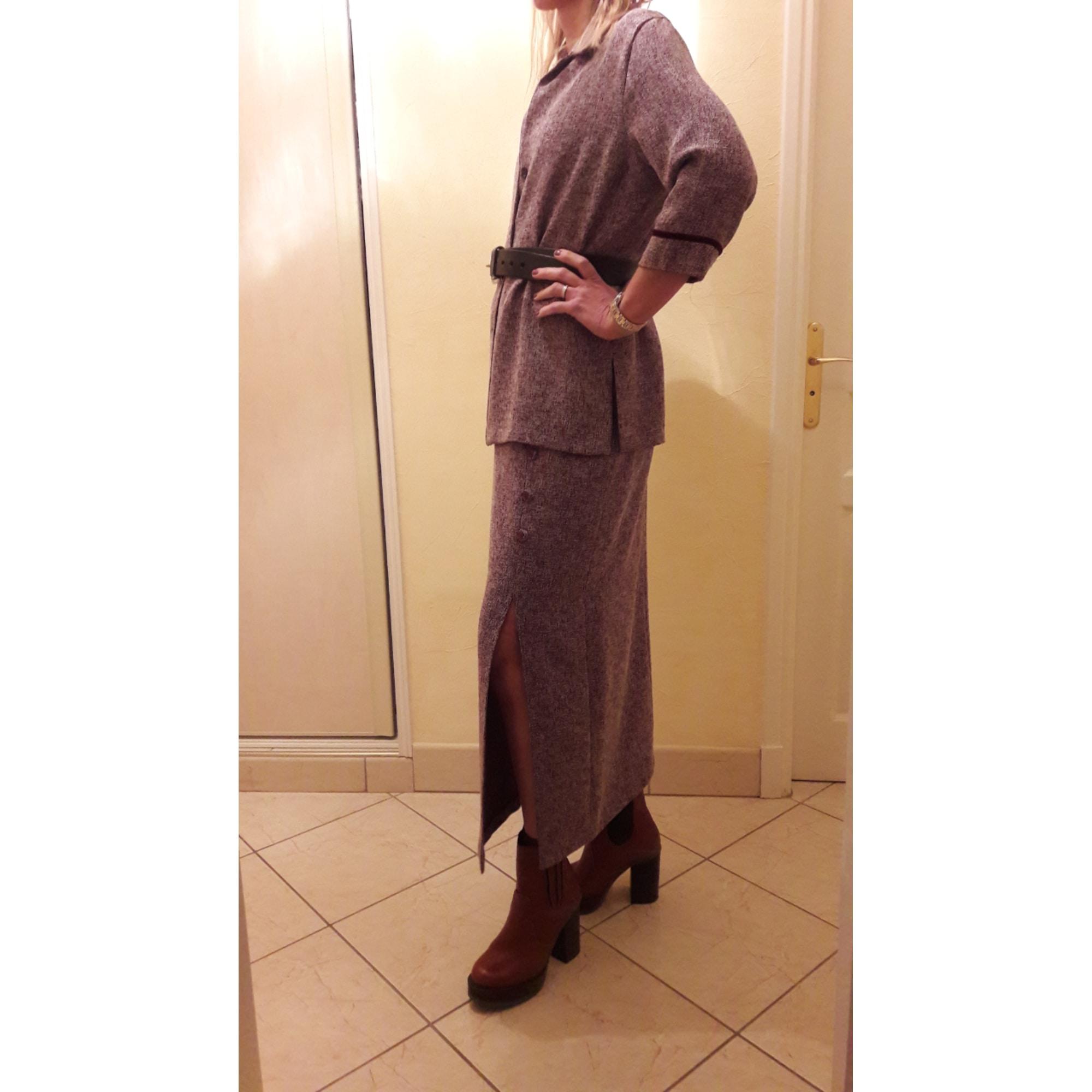 Tailleur jupe ARMAND THIERY Violet, mauve, lavande
