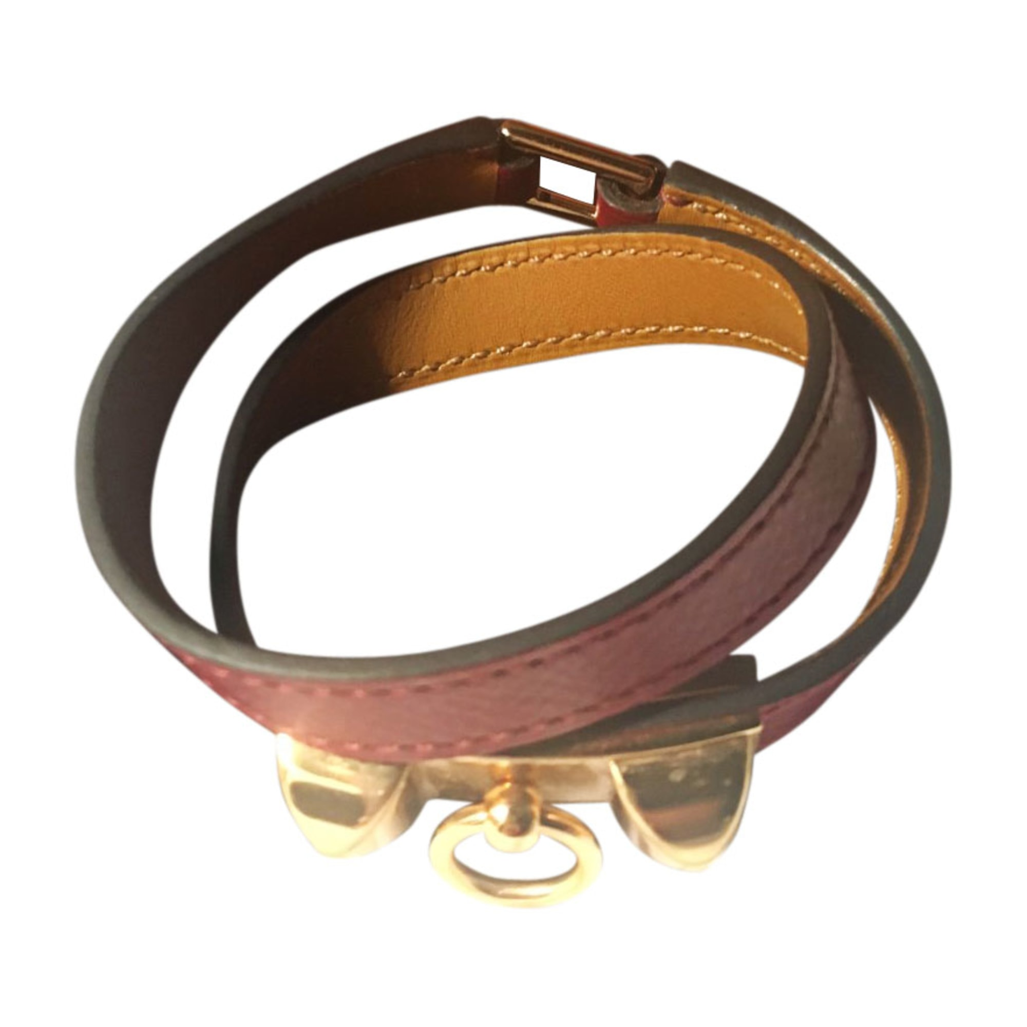 Bracelet HERMÈS Rivale Rouge, bordeaux
