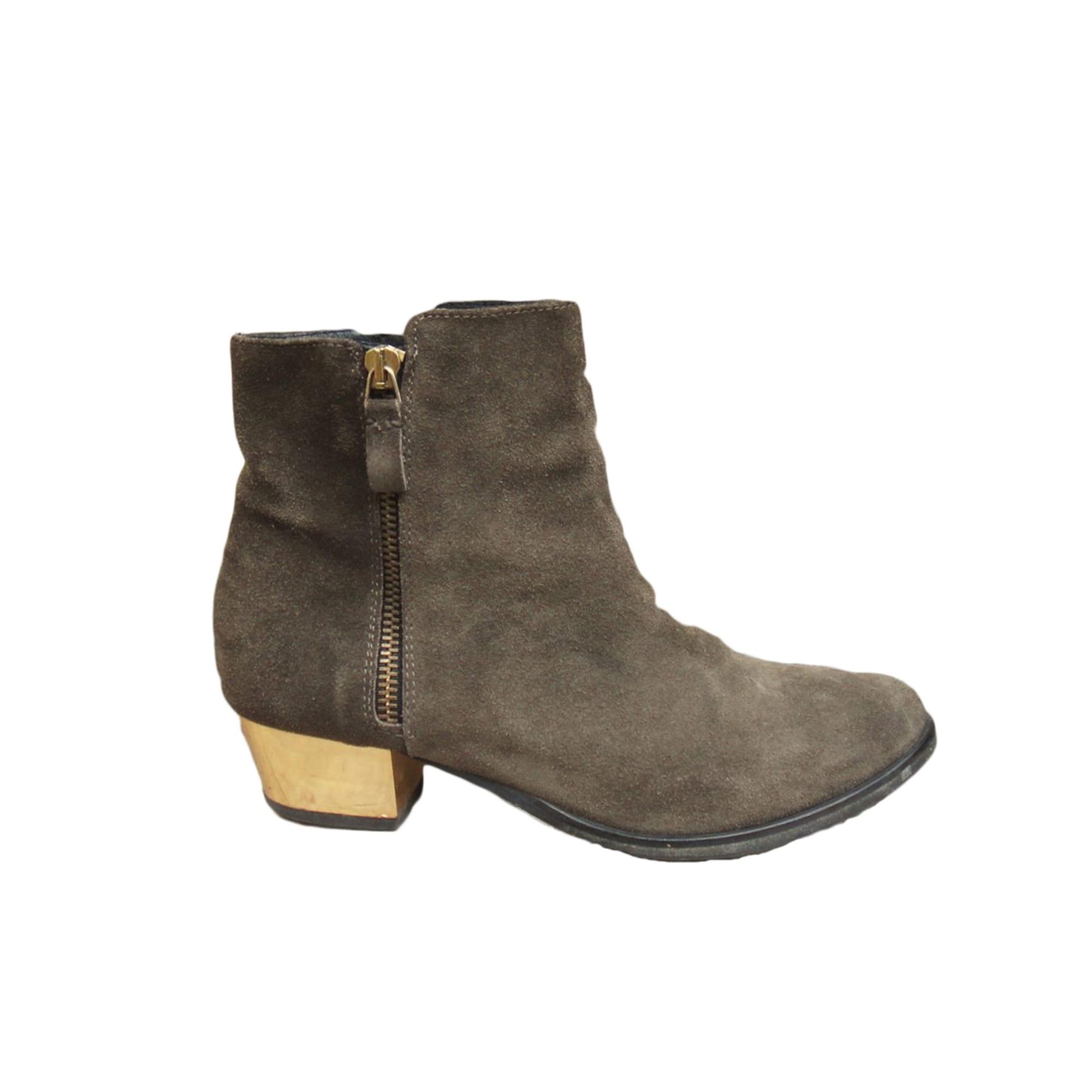 Bottines & low boots à talons MAJE Marron