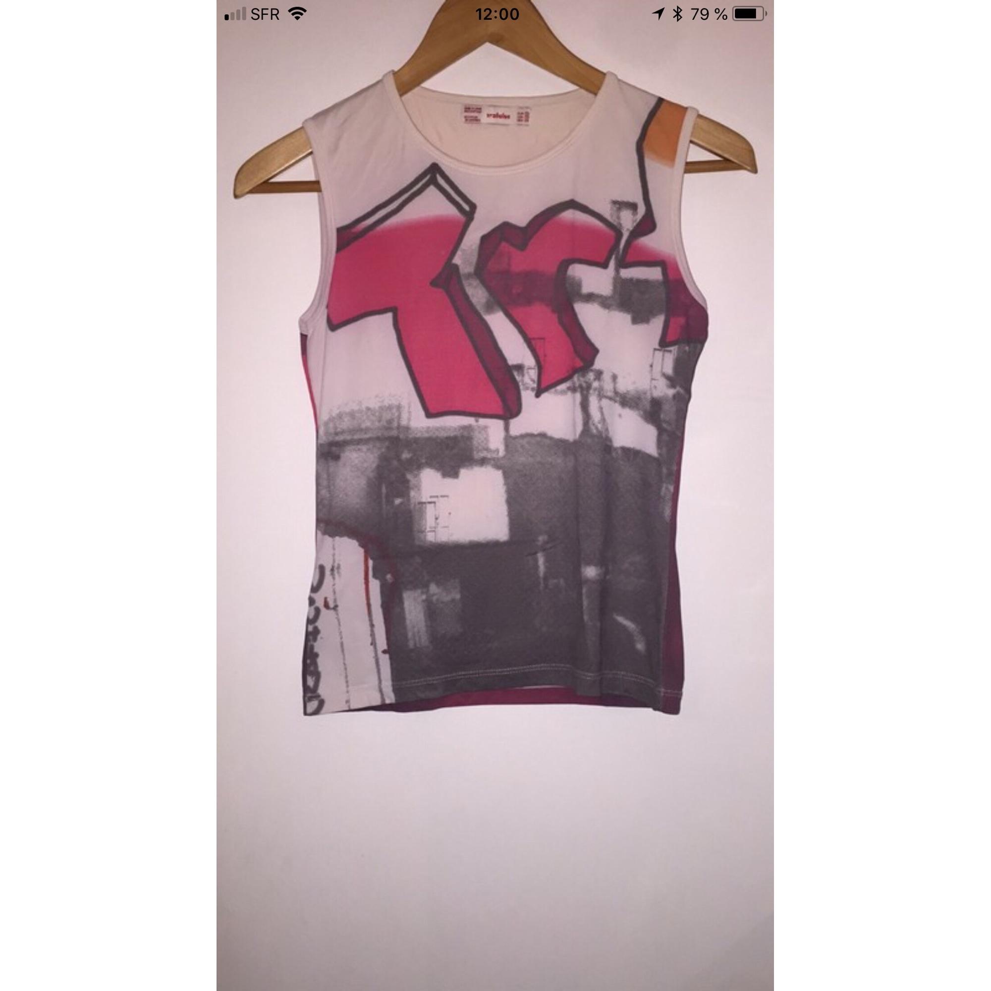 Top, tee-shirt ZARA Rouge, bordeaux