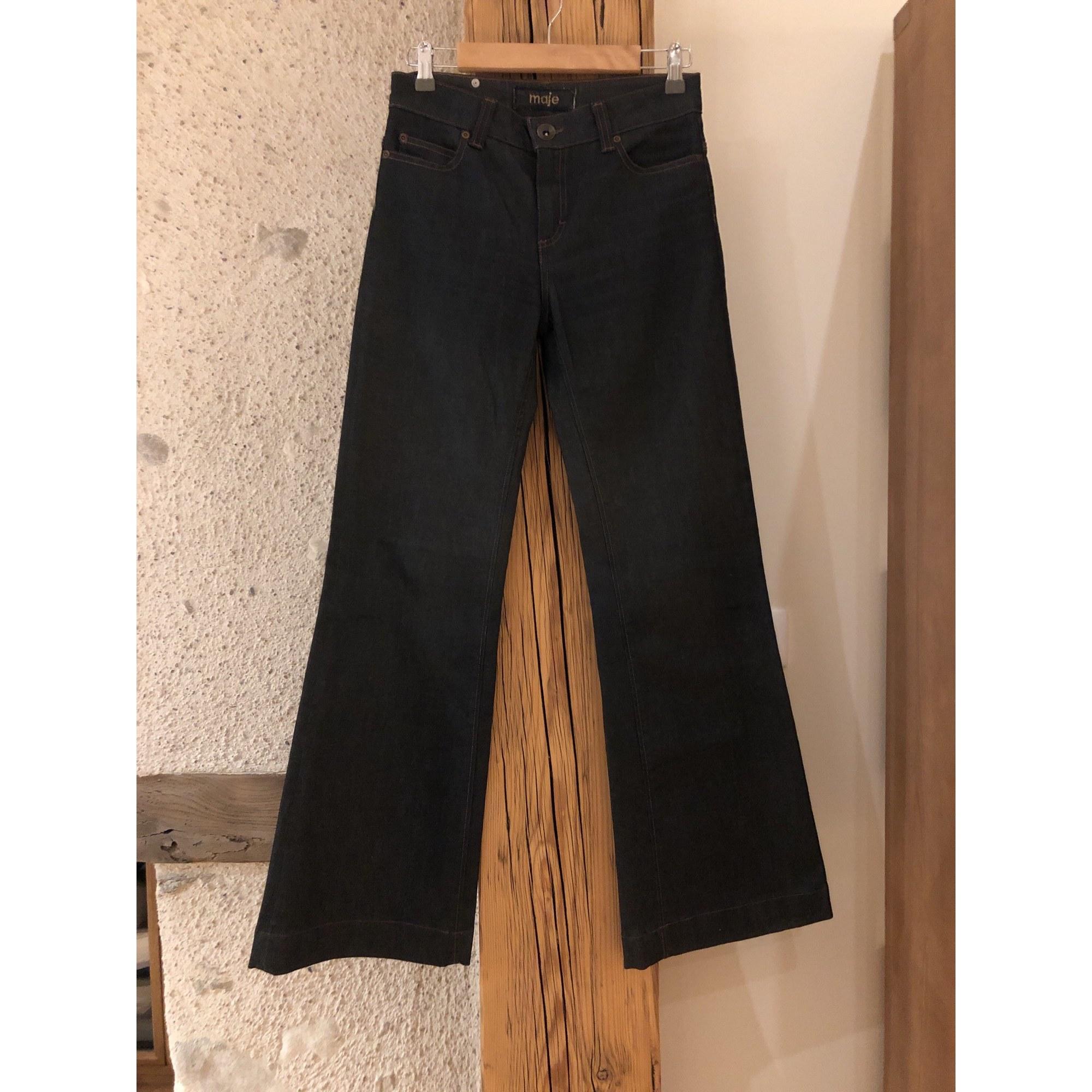 Jeans évasé, boot-cut MAJE Bleu, bleu marine, bleu turquoise