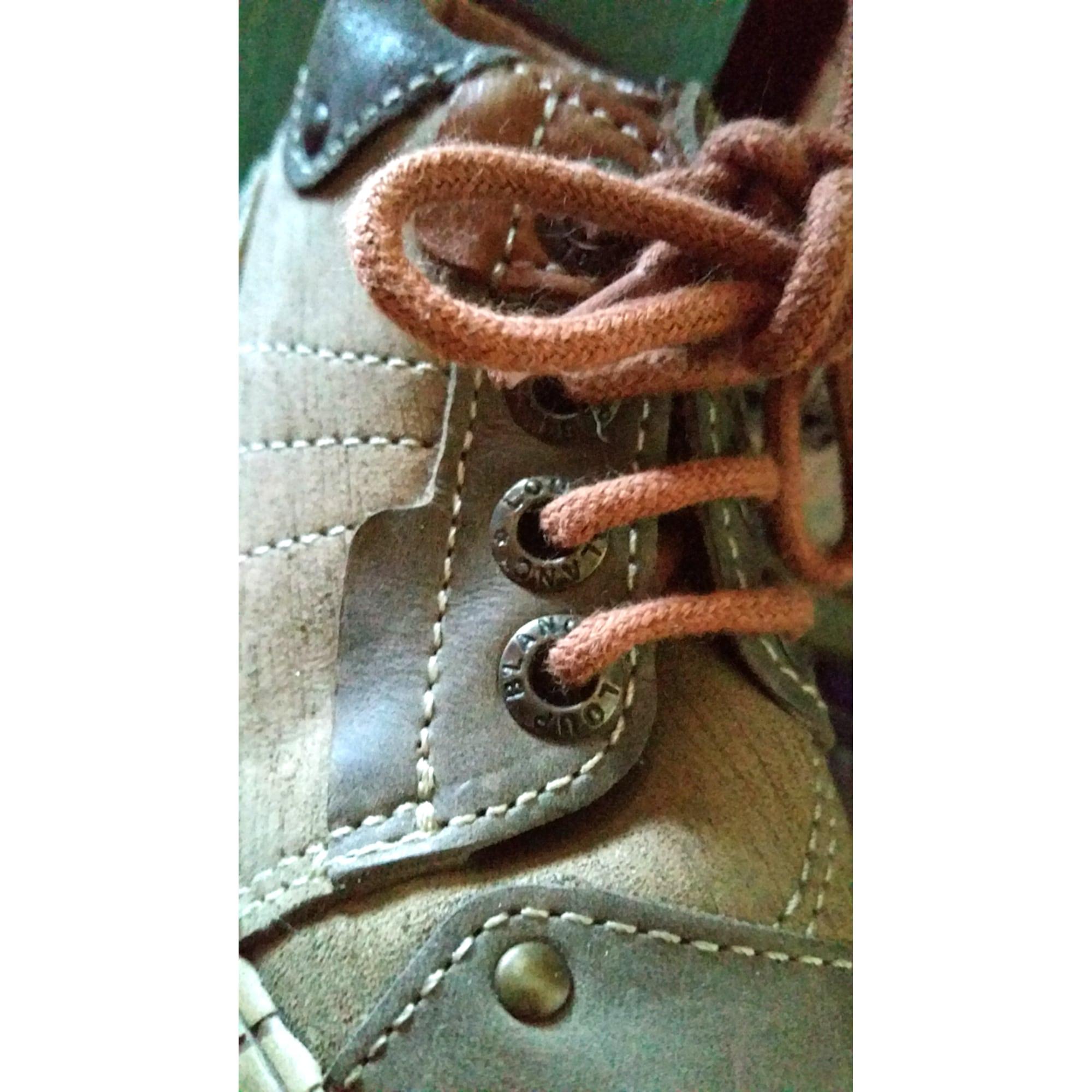Chaussures à lacets LE LOUP BLANC Marron