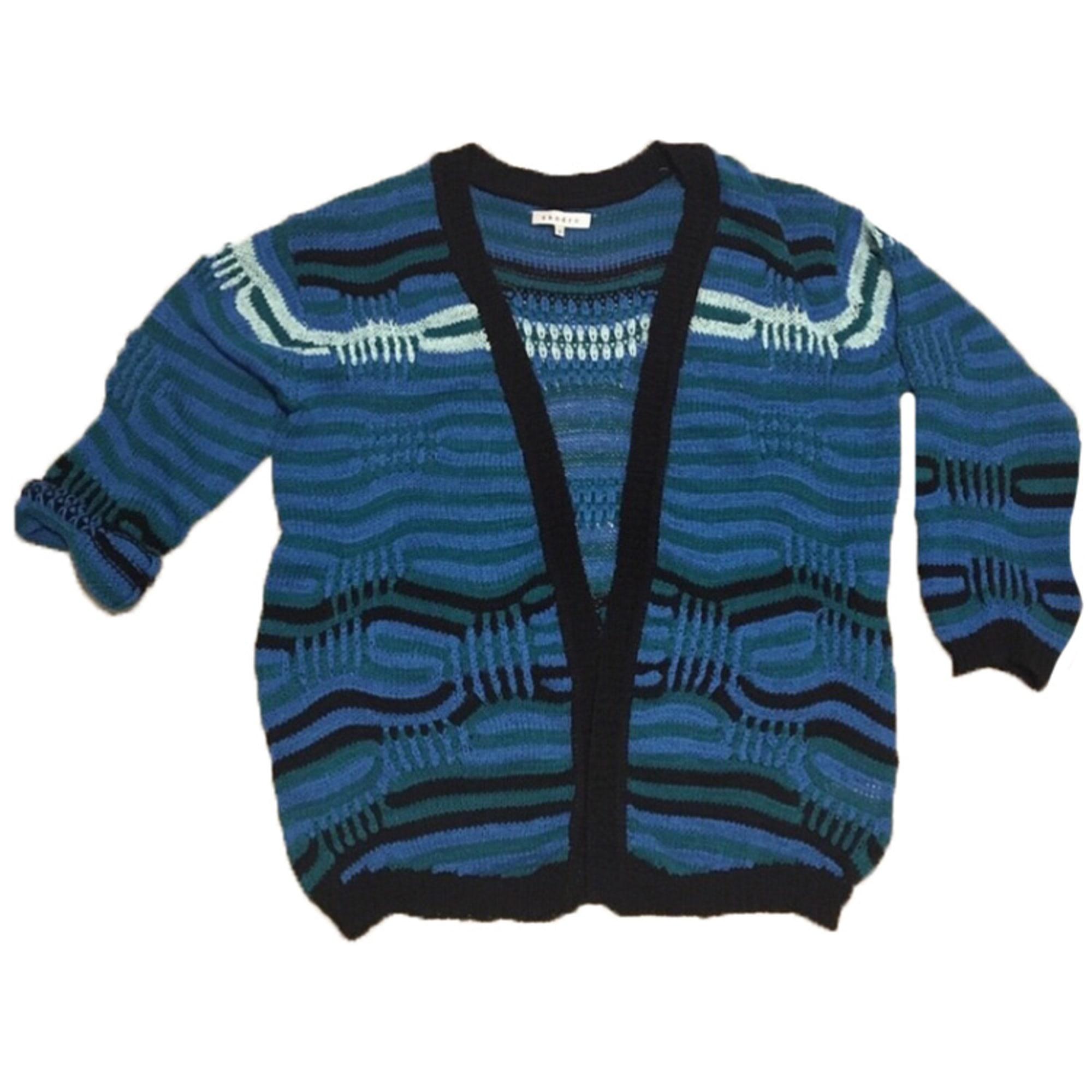 Gilet, cardigan SANDRO Bleu, bleu marine, bleu turquoise