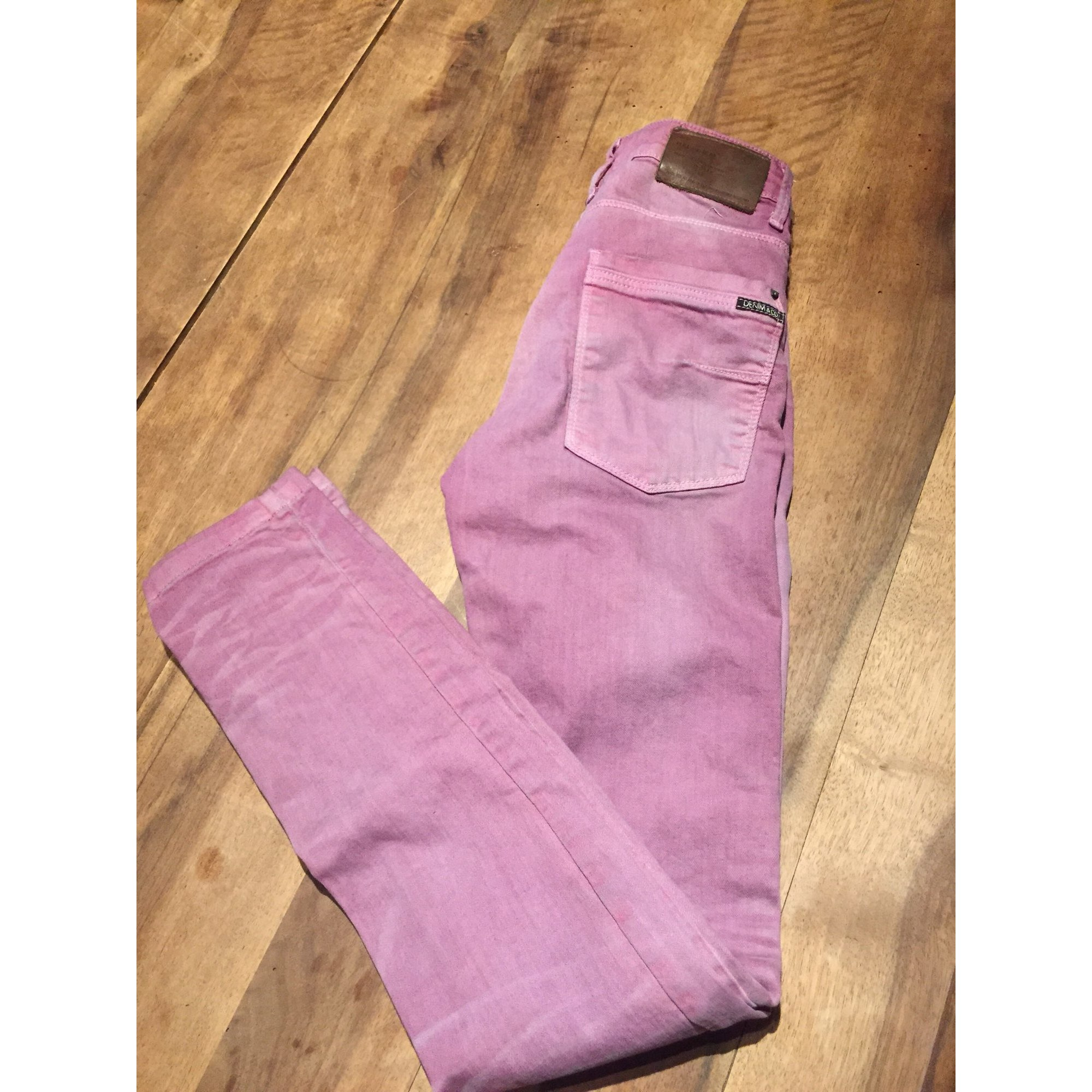Straight Leg Pants PULL & BEAR Pink, fuchsia, light pink