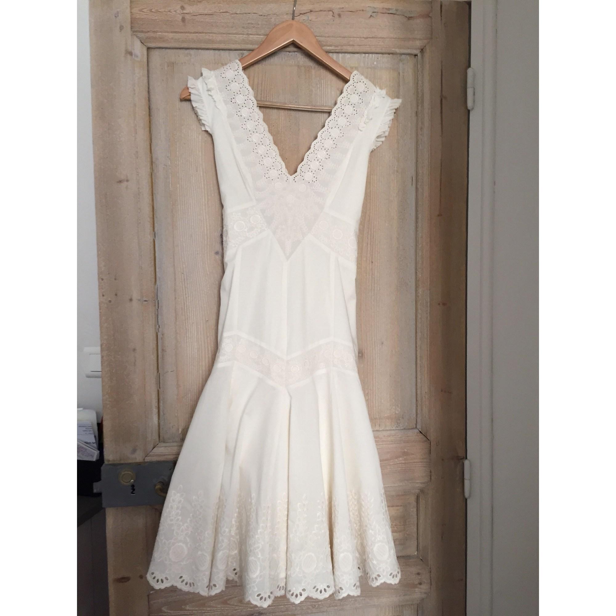 Ted Baker blanc guipure dentelle fleurie Midi Parti mariage robe de mariée robe 2 10 38