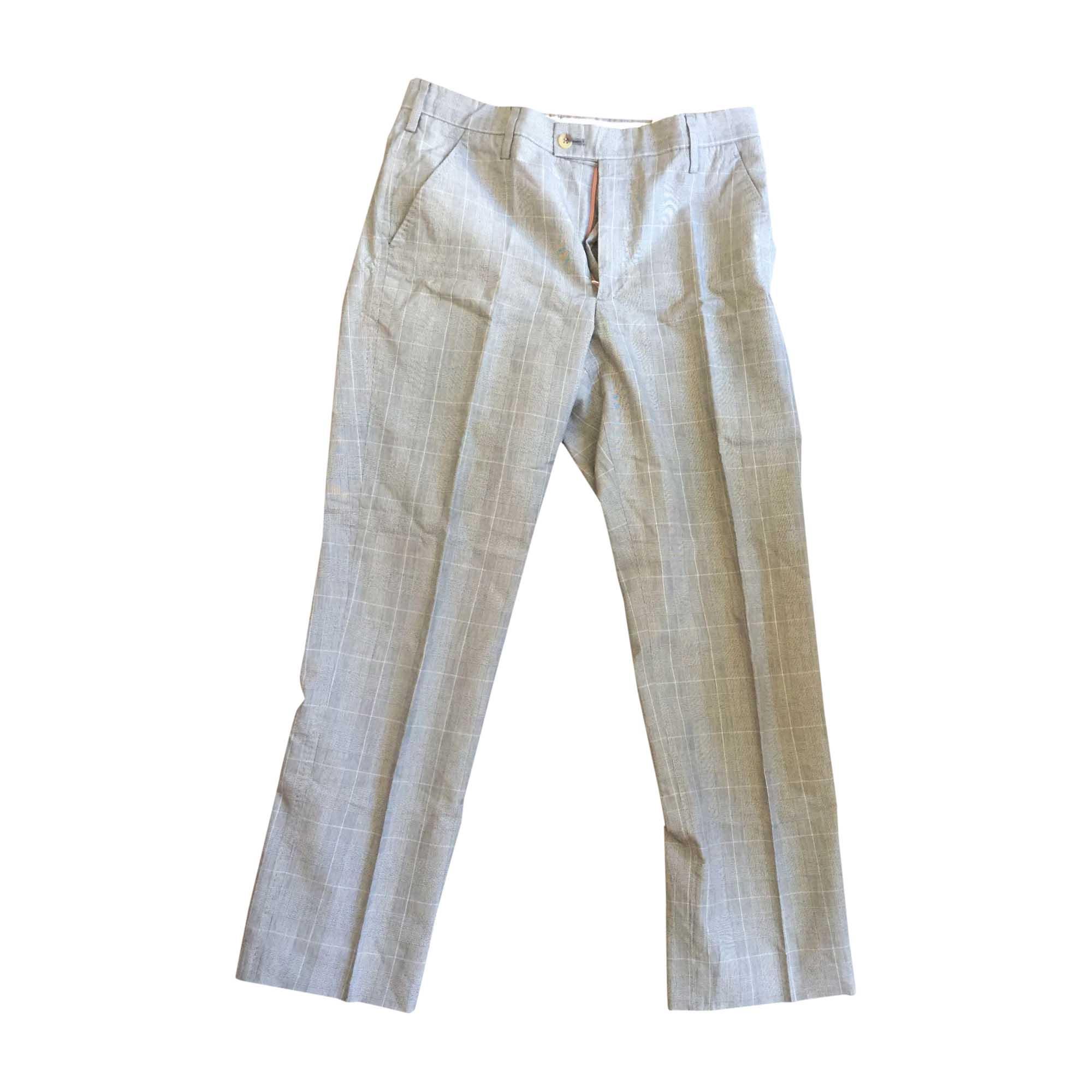 Pantalon slim PAUL SMITH Gris, anthracite