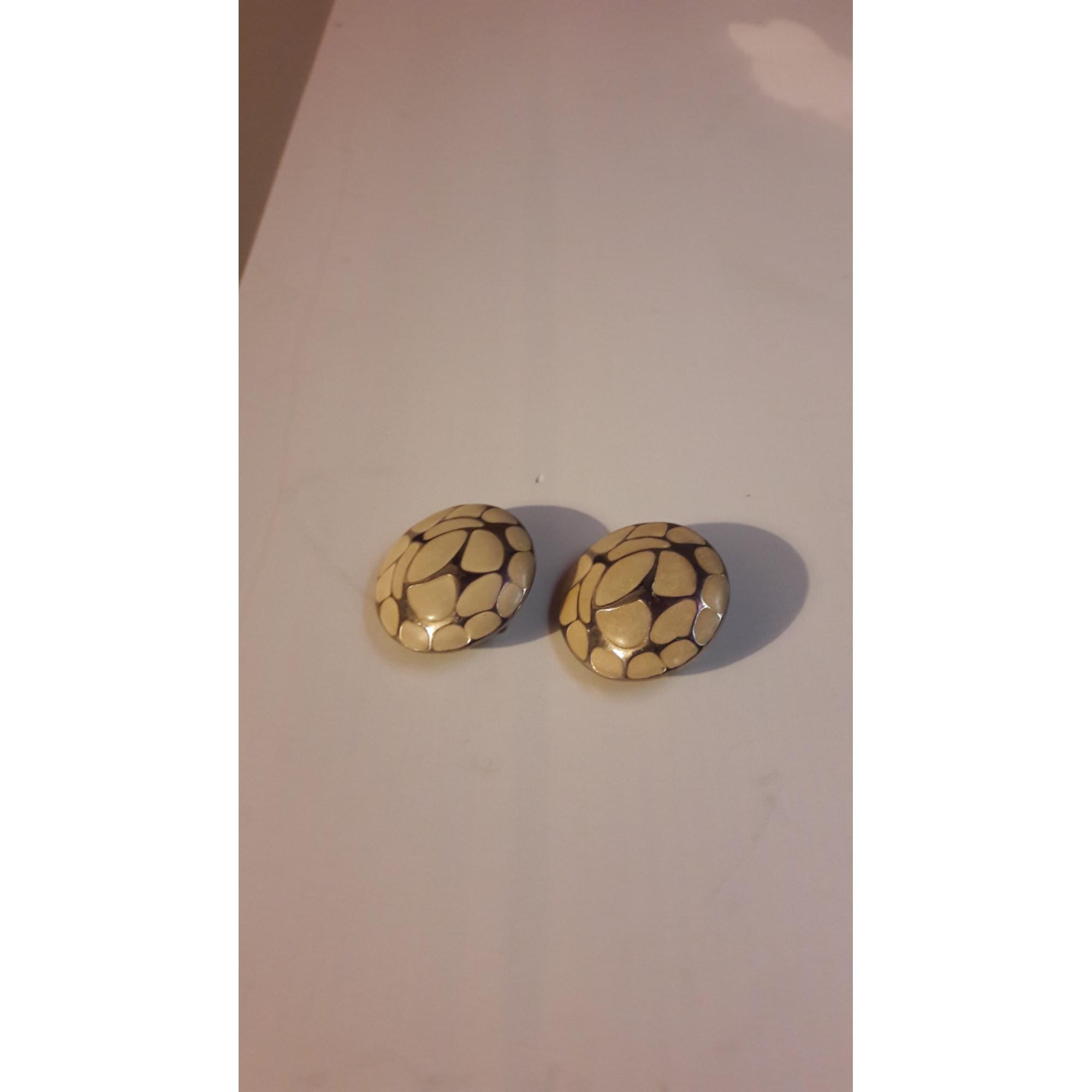 Boucles d'oreille VINTAGE Blanc, blanc cassé, écru