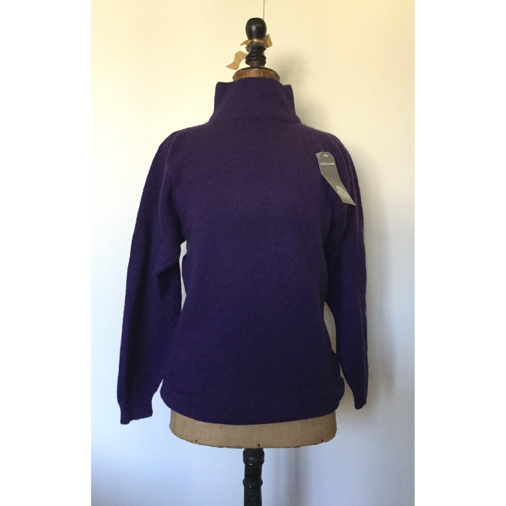 Pull tunique WOOLMARK Violet, mauve, lavande