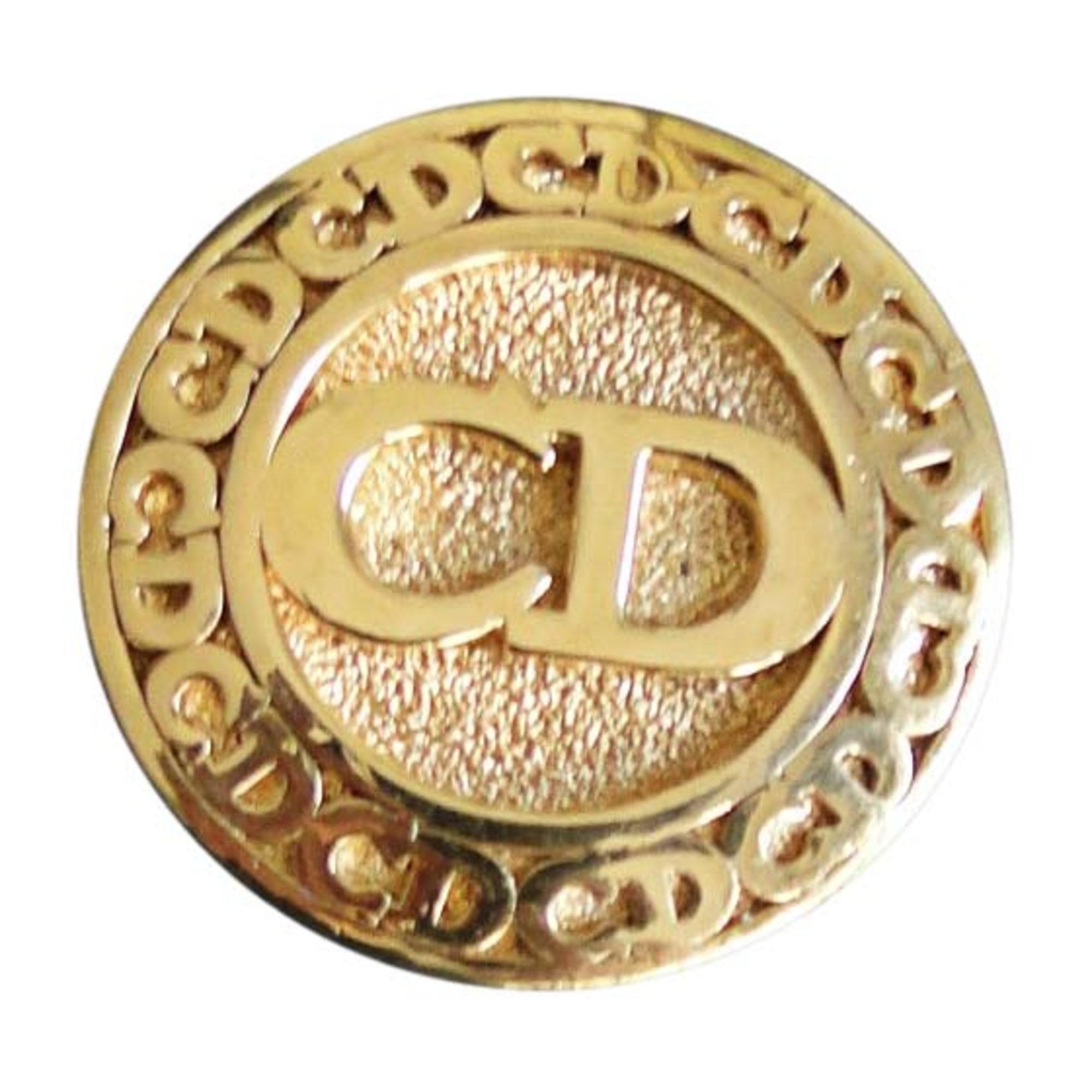 Broche DIOR Doré, bronze, cuivre