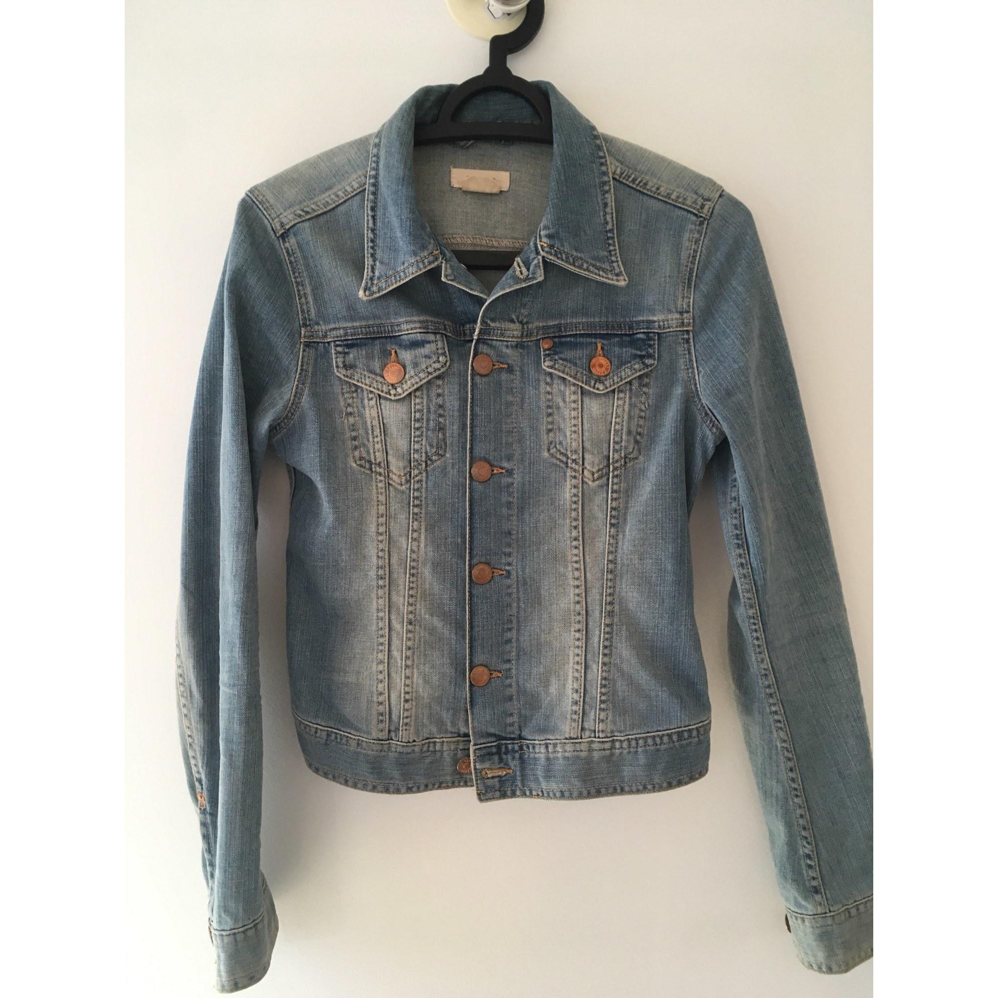 Veste en jean H&M Bleu, bleu marine, bleu turquoise