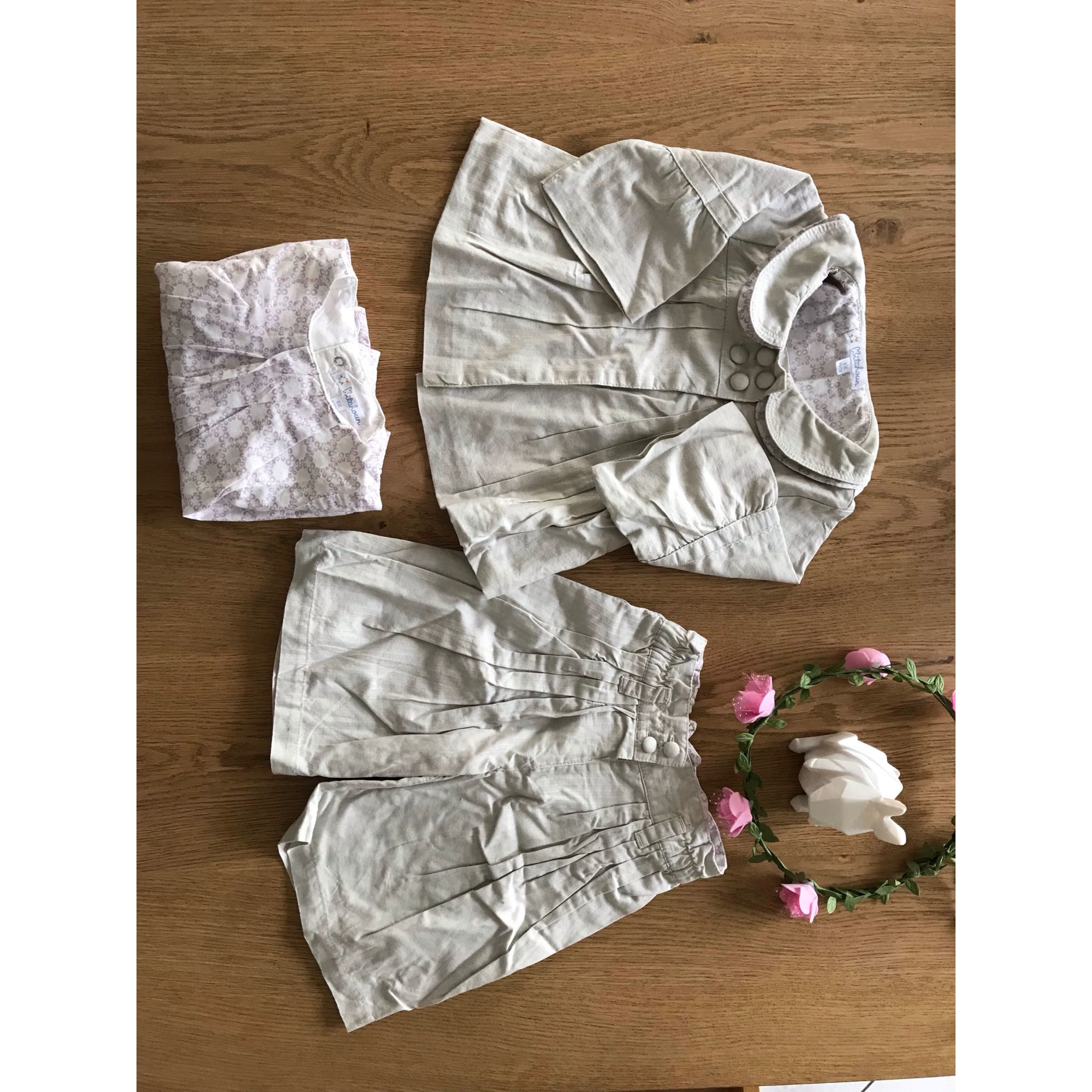 Ensemble & Combinaison pantalon KITCHOUN Blanc, blanc cassé, écru