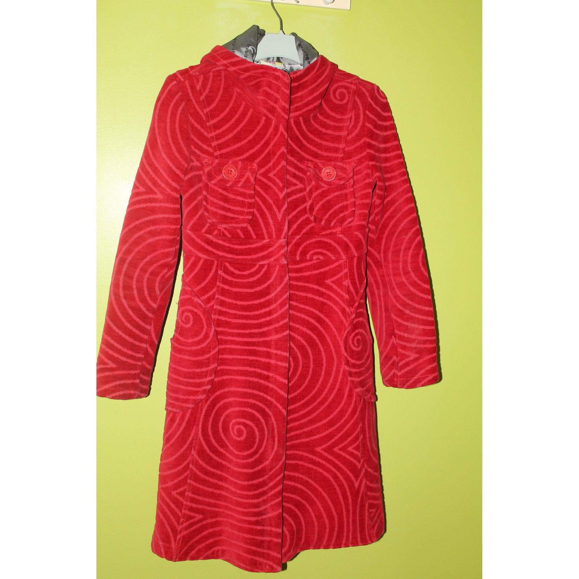 Manteau DESIGUAL Rouge, bordeaux