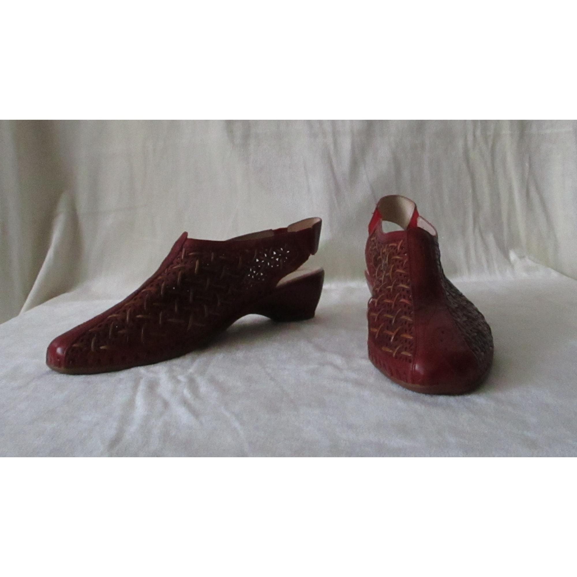 Sandales à talons PIKOLINOS Rouge, bordeaux
