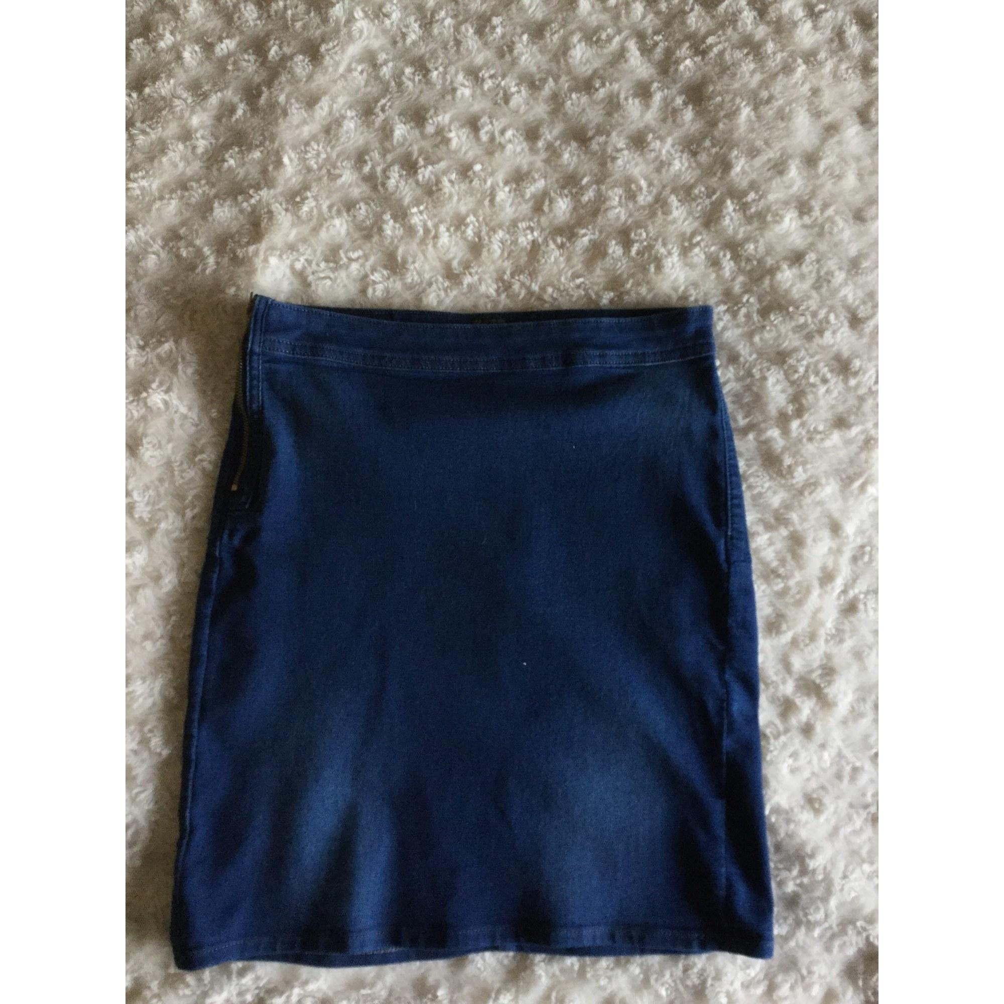Jupe en jean LEE Bleu, bleu marine, bleu turquoise