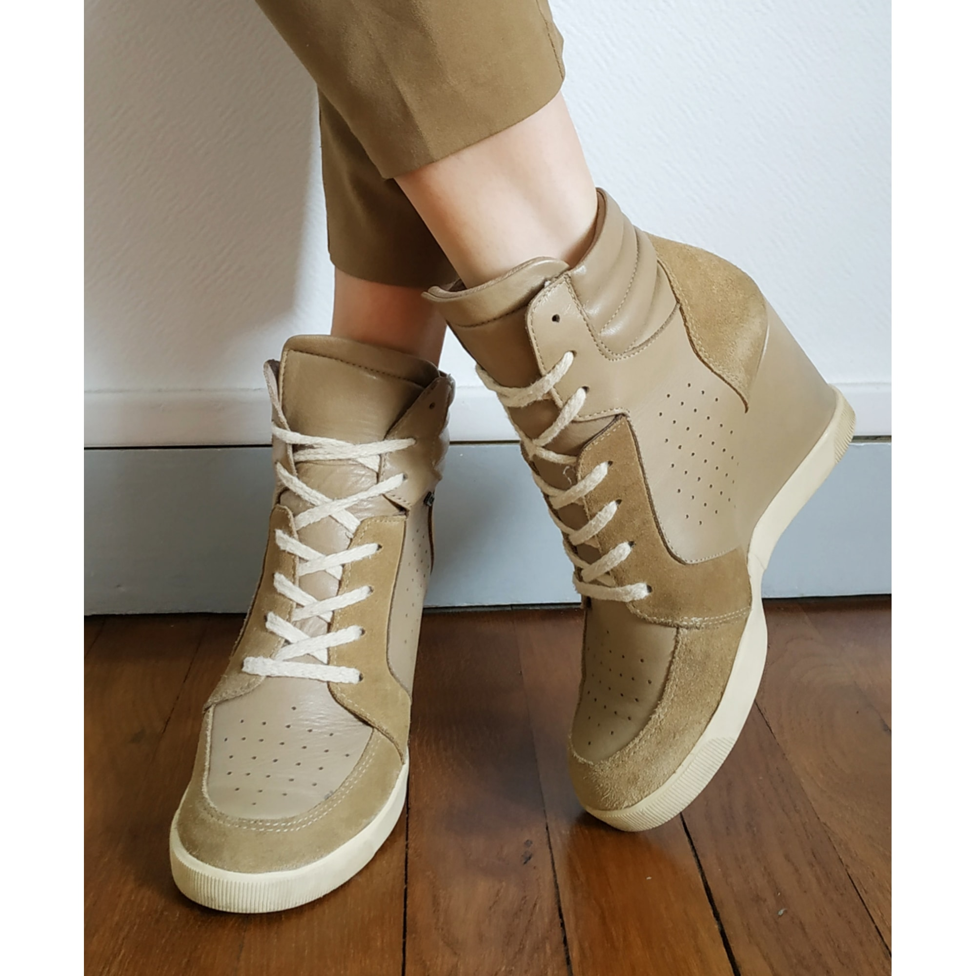 Chaussures à lacets  BEE FLY Beige, camel