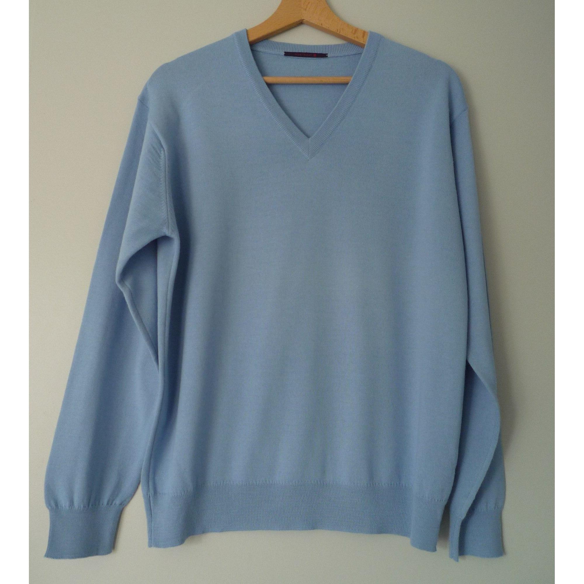 Pull MONTAGUT Bleu, bleu marine, bleu turquoise