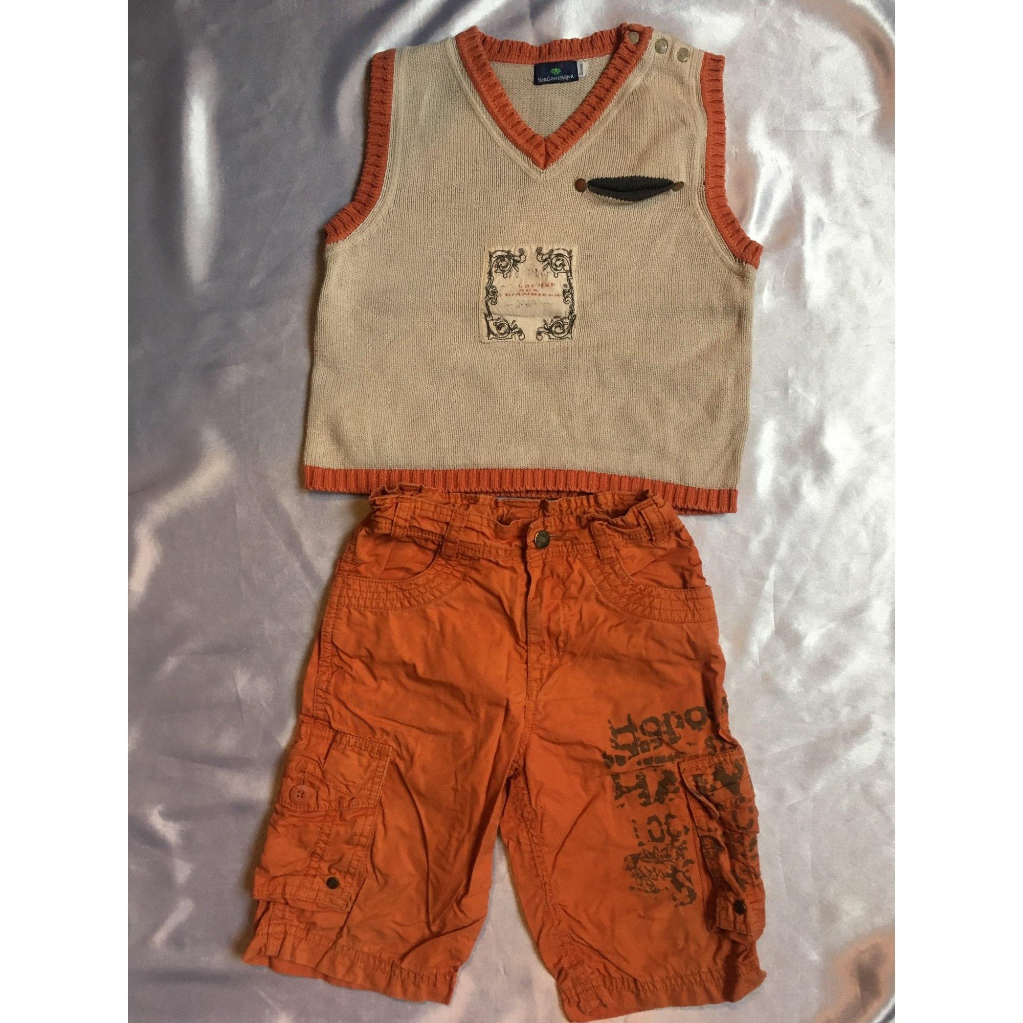 Anzug, Set für Kinder, kurz SERGENT MAJOR Orange