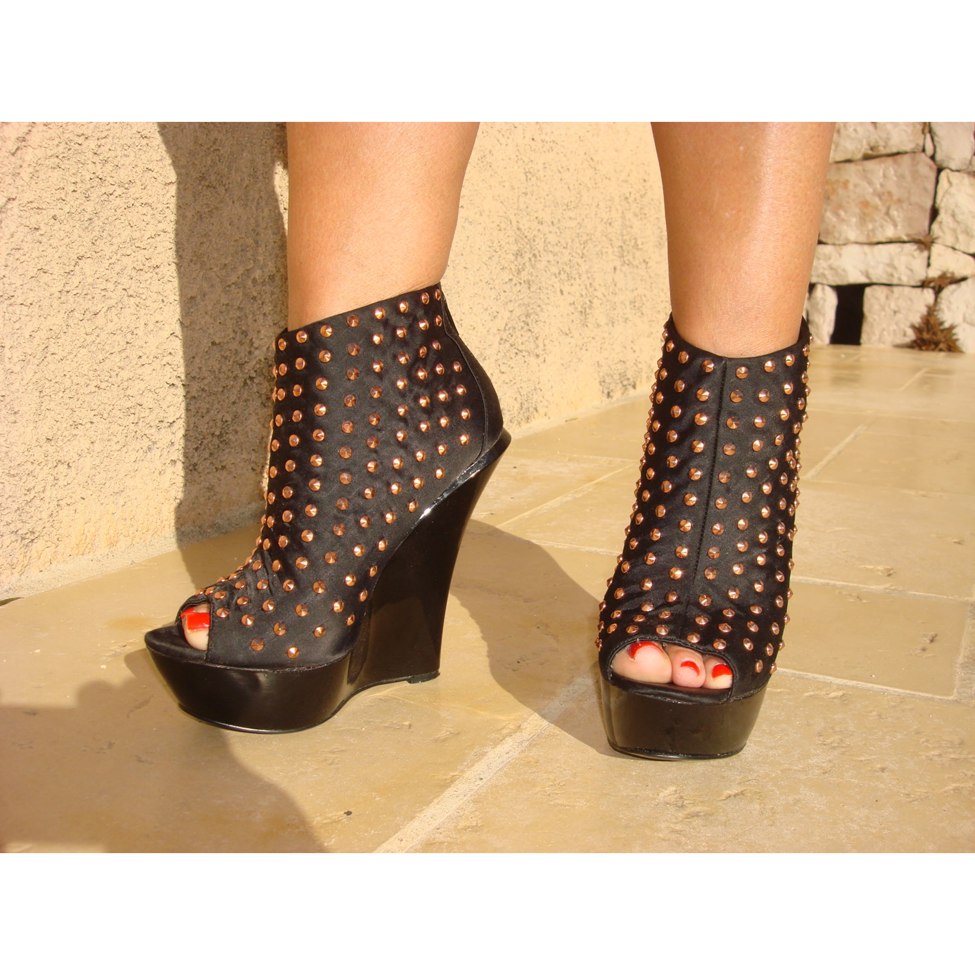 Bottines & low boots à compensés ALDO Noir