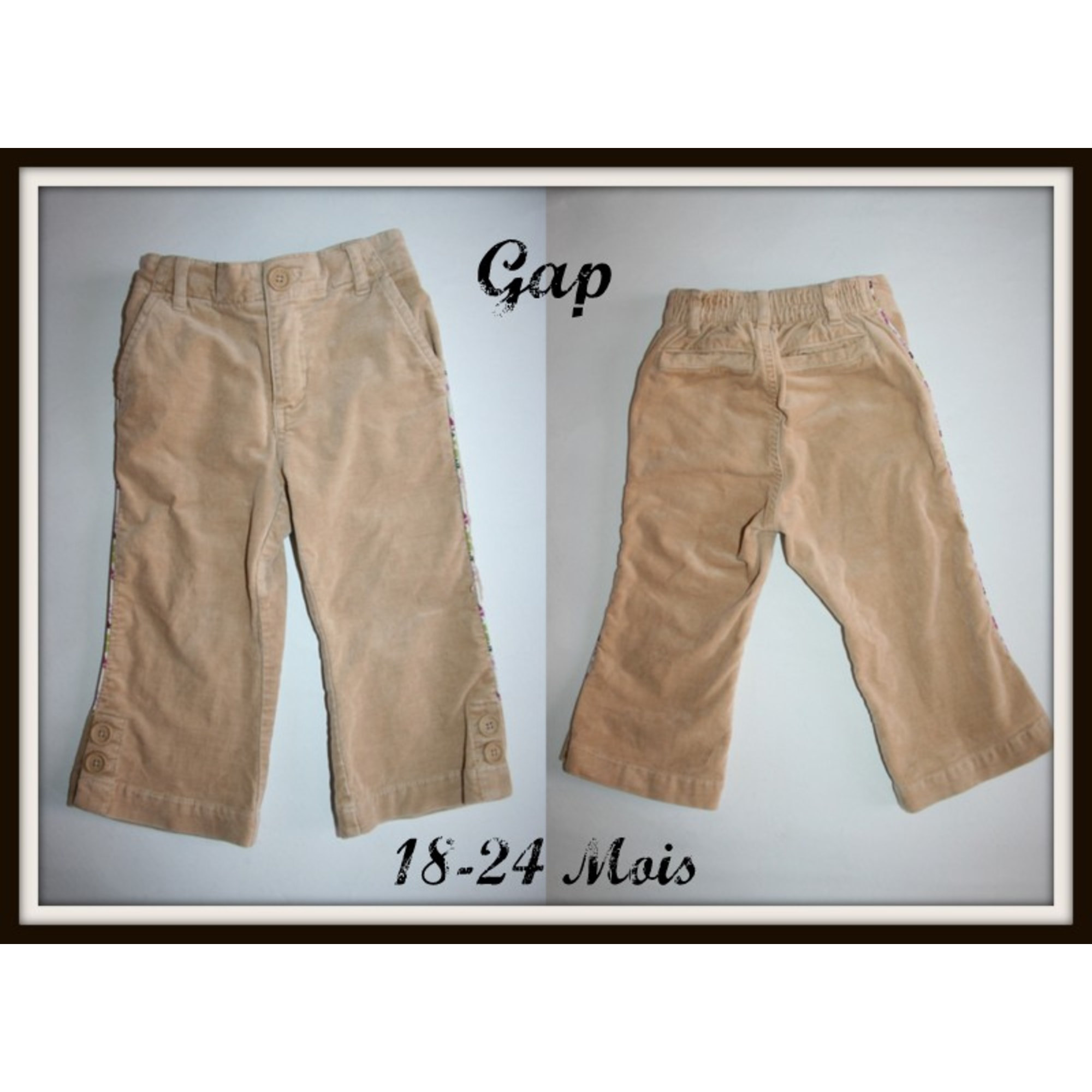 Pantalon GAP Beige, camel