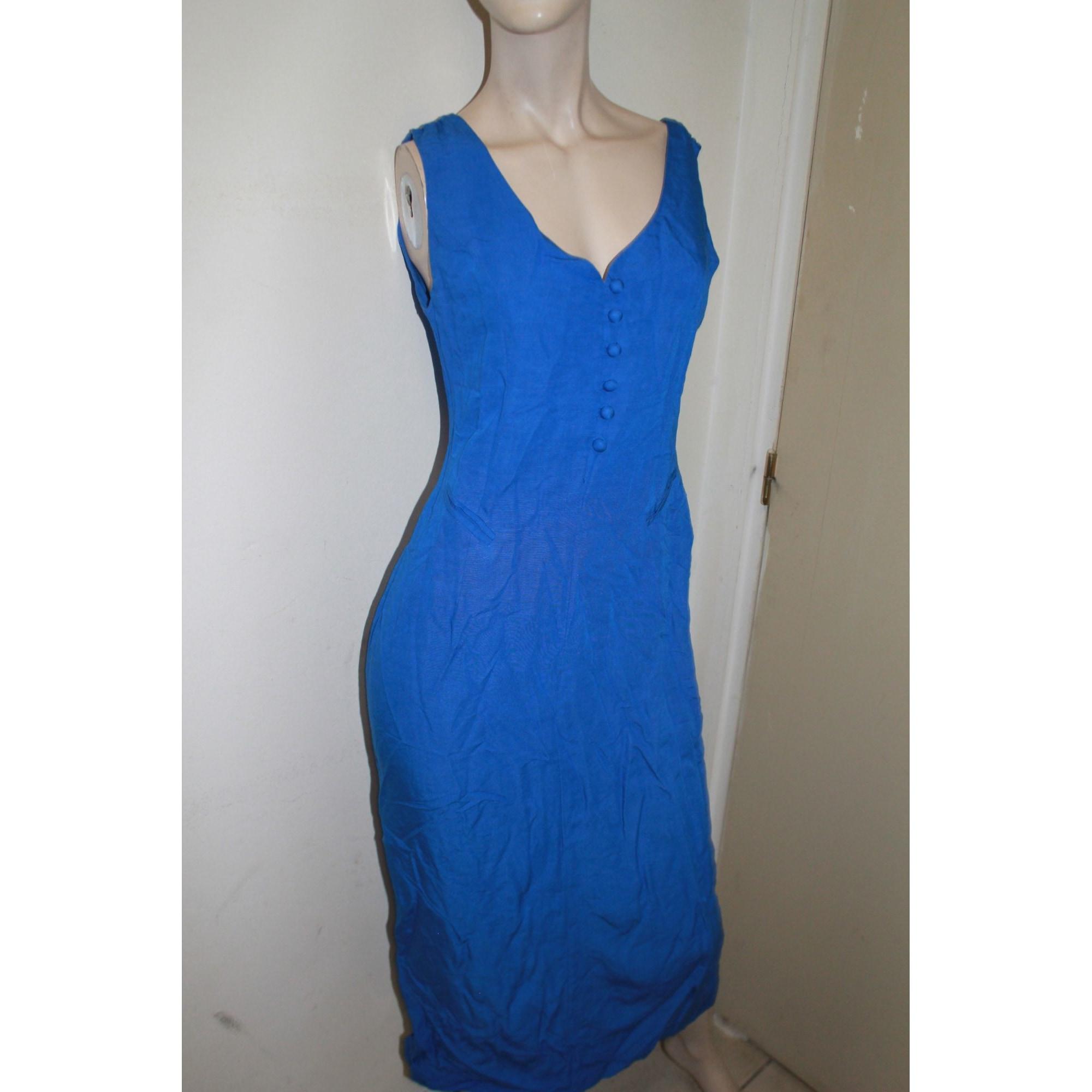 Robe mi-longue MAXIME Bleu, bleu marine, bleu turquoise