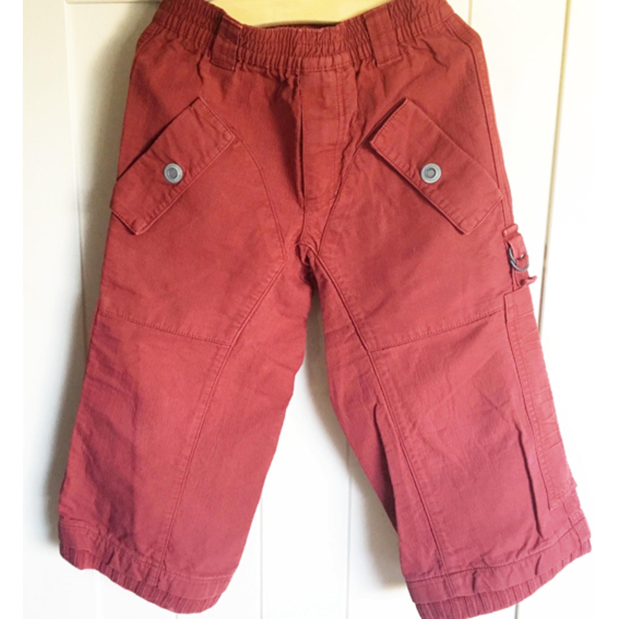 Pantalon IKKS Rouge, bordeaux