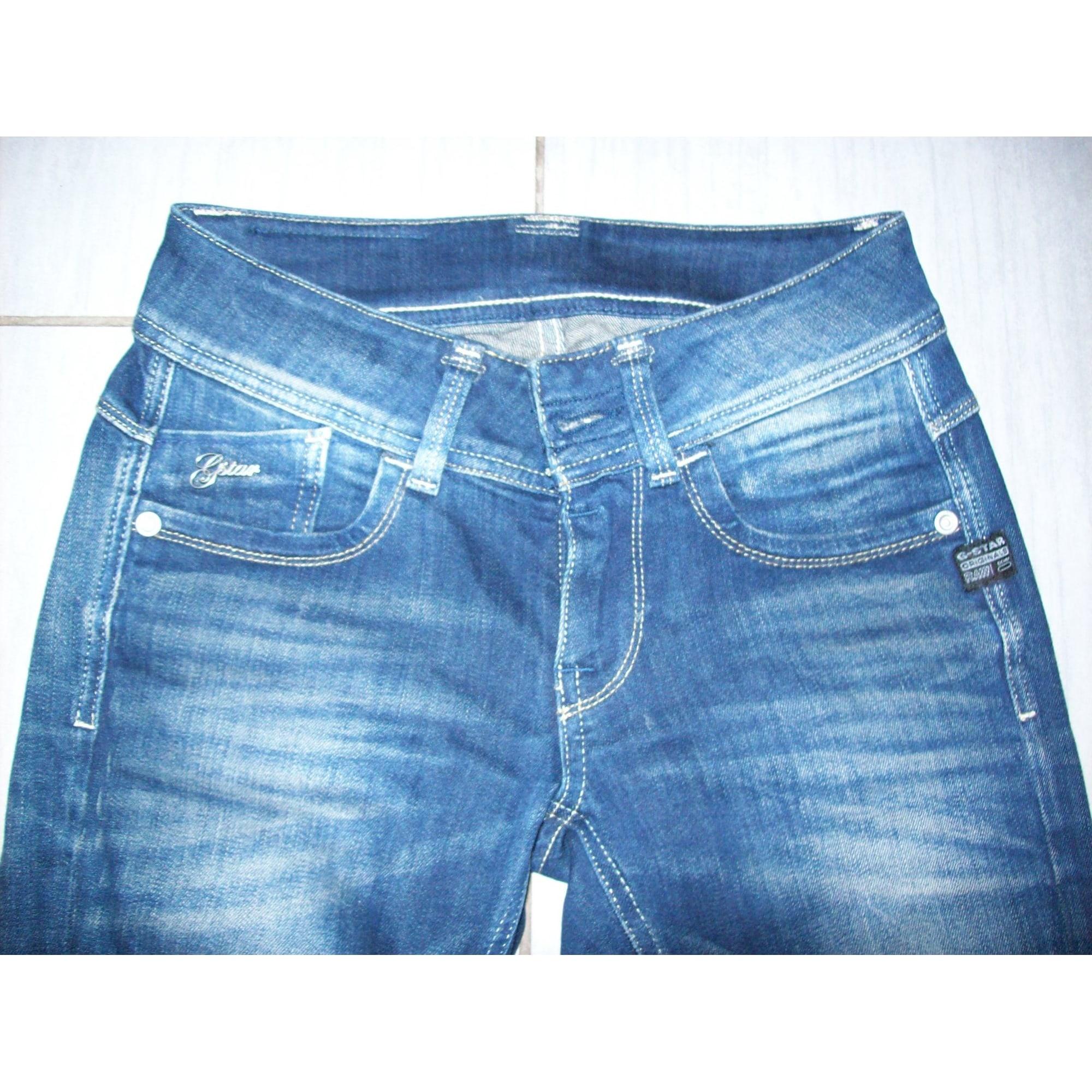 Jeans slim G-STAR Bleu, bleu marine, bleu turquoise