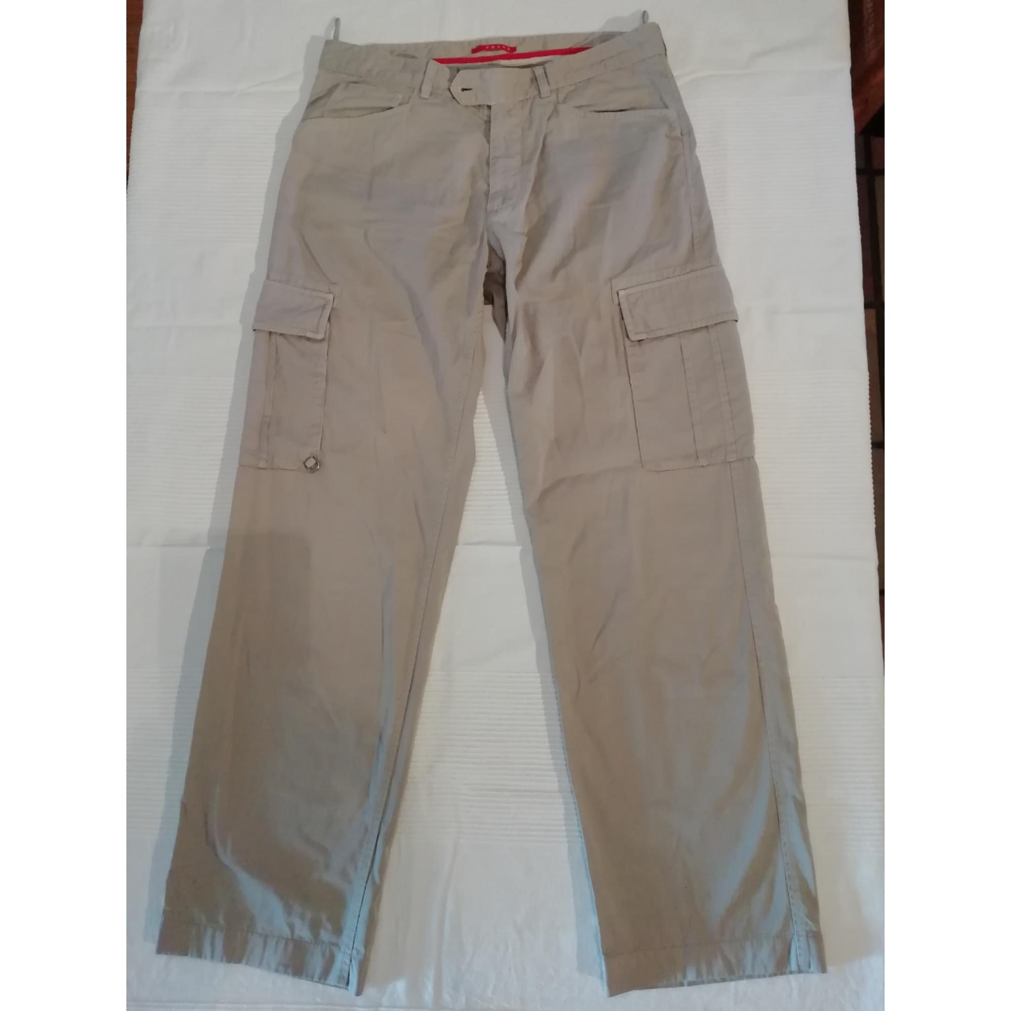 Pantalon large PRADA Beige, camel