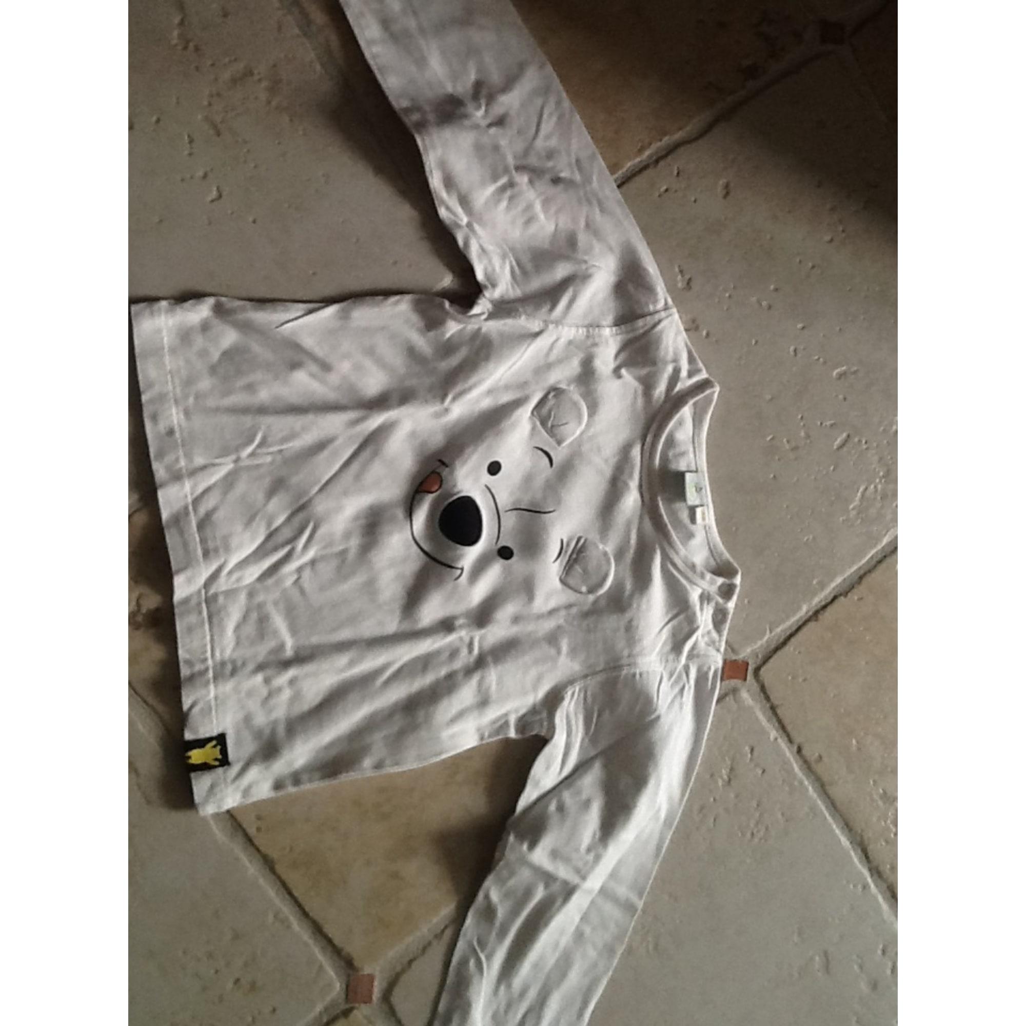 Tee-shirt DISNEY Blanc, blanc cassé, écru
