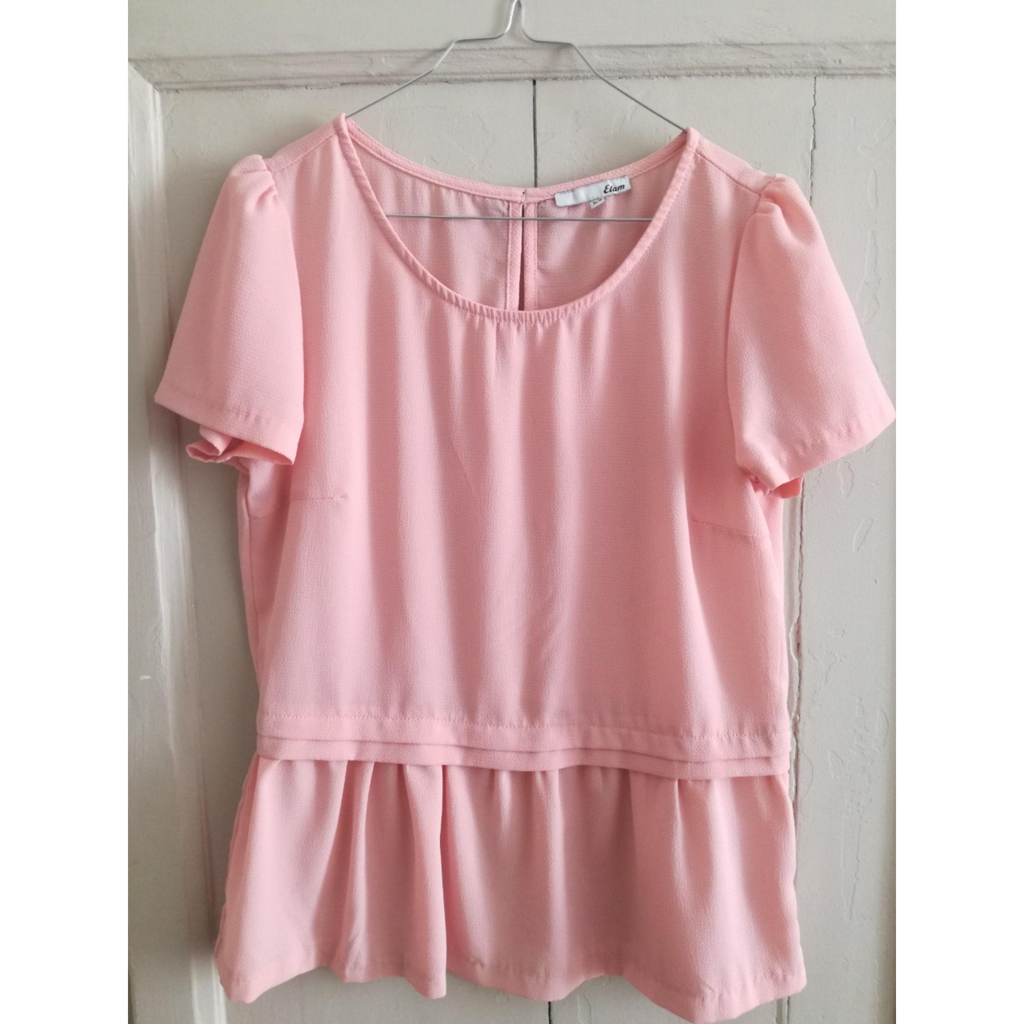 Top, tee-shirt ETAM Rose, fuschia, vieux rose