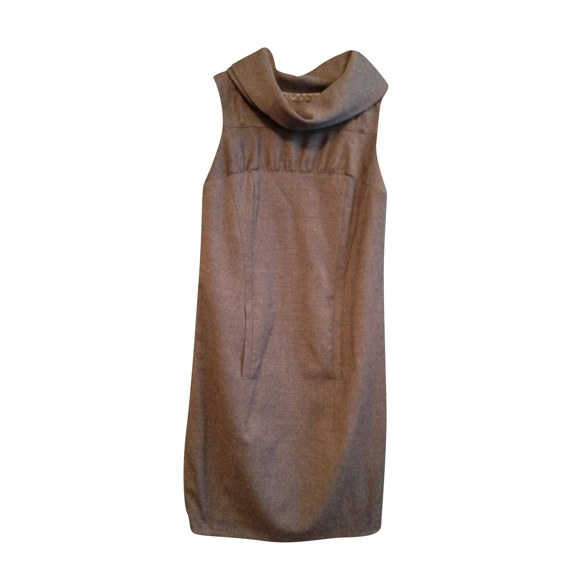 Robe courte COSTUME NATIONAL Gris, anthracite