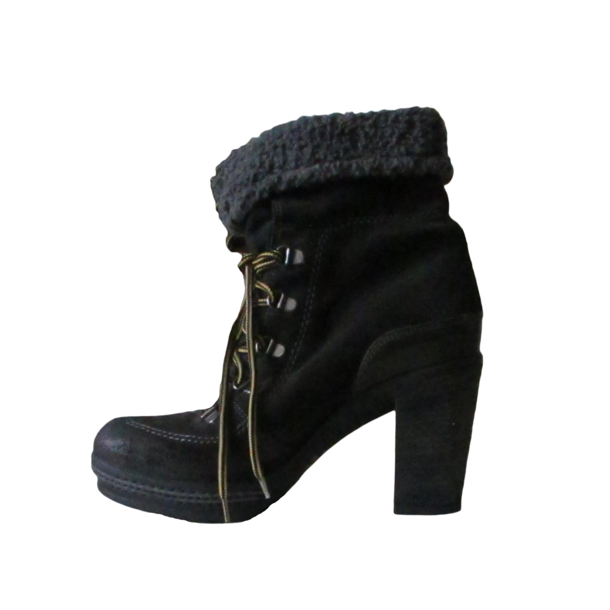 Bottines & low boots à talons DIESEL Marron