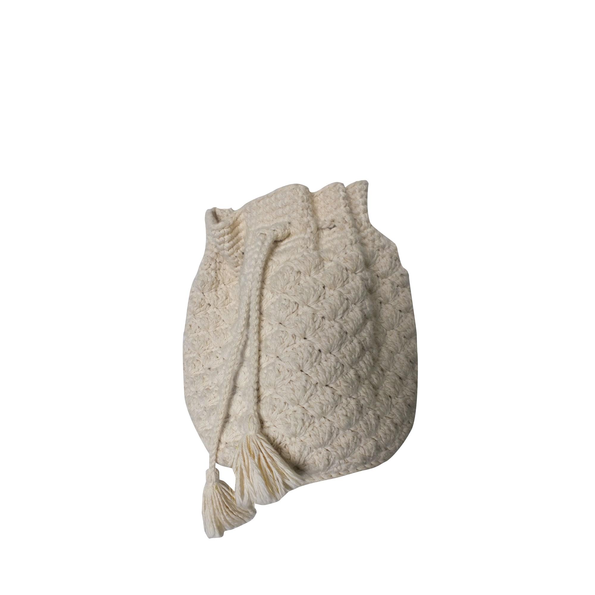 Sac en bandoulière en tissu DES PETITS HAUTS Blanc, blanc cassé, écru