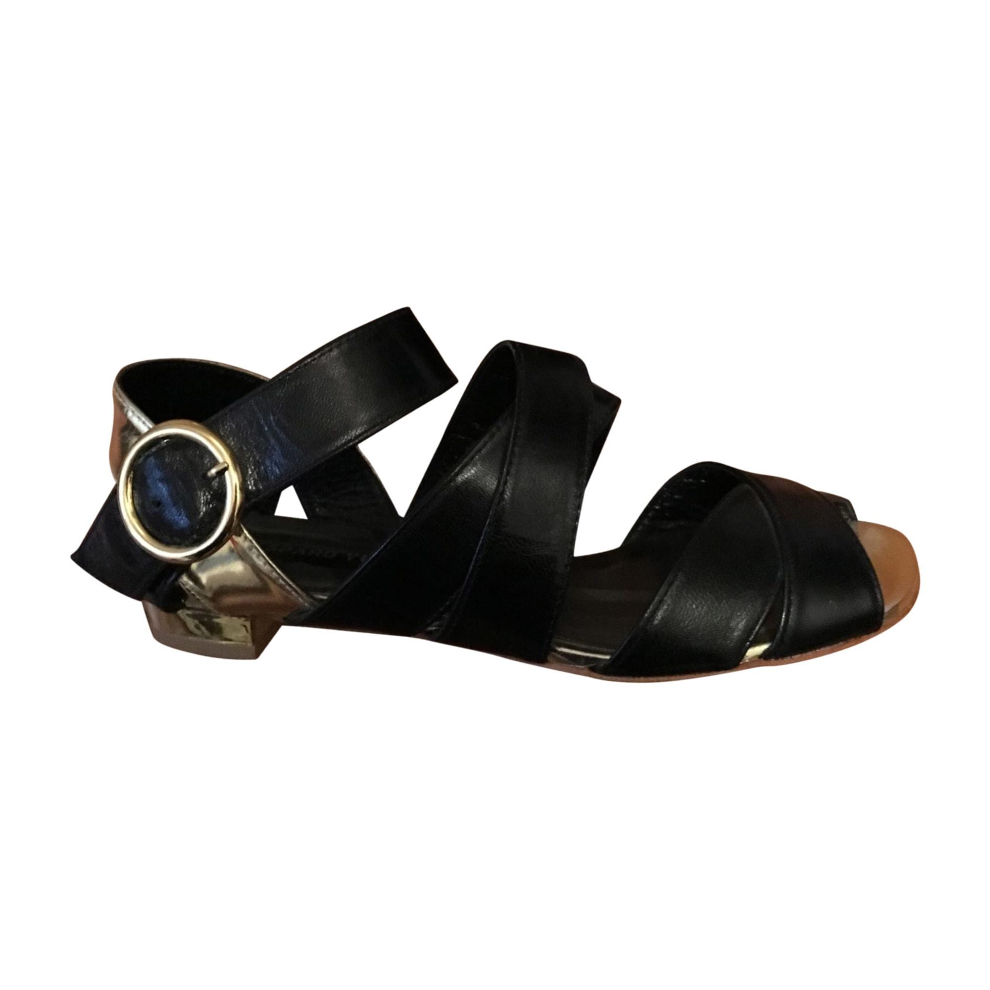 Sandales plates  GASPARD YURKIEVICH Noir