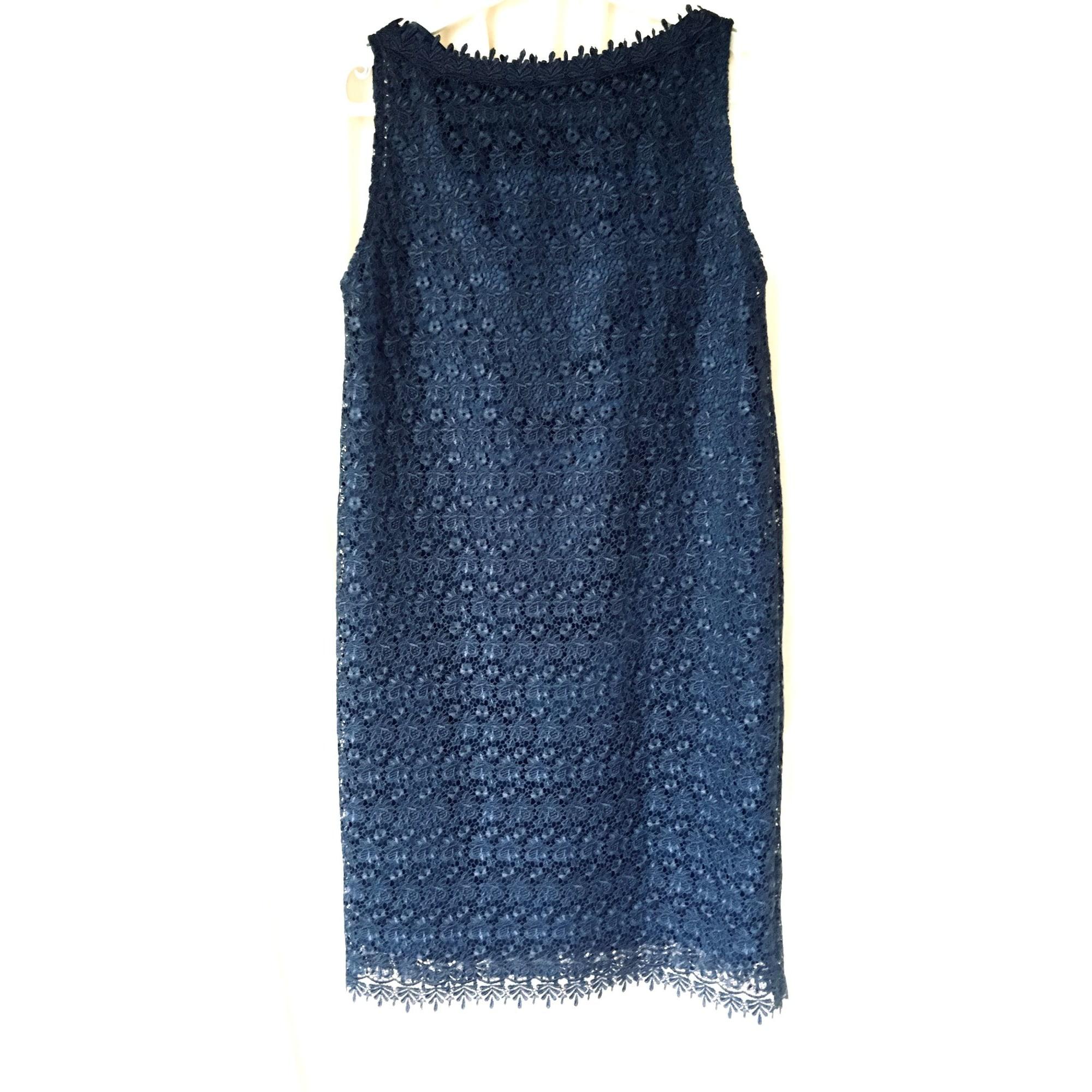 Robe courte JESSICA CHOAY Bleu, bleu marine, bleu turquoise