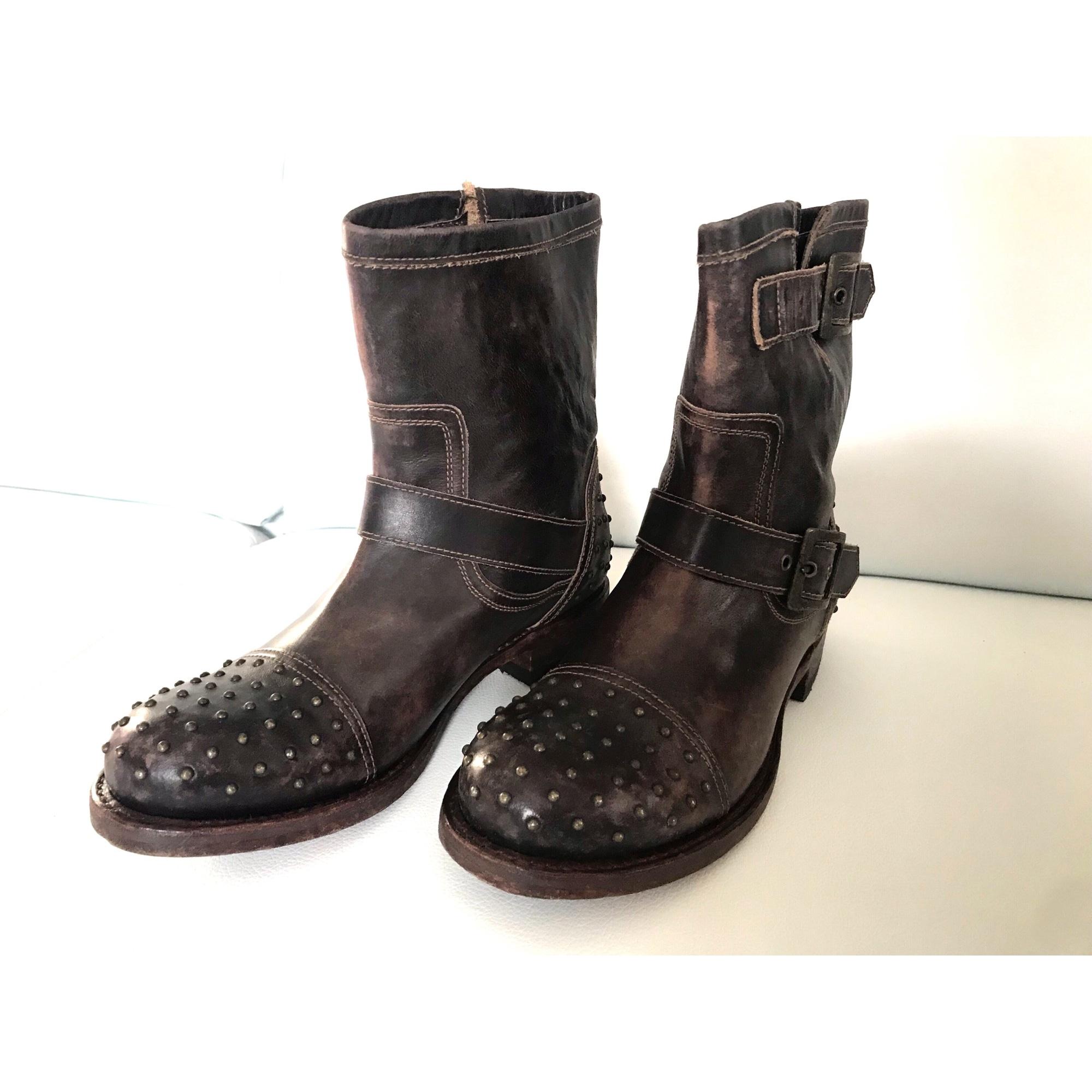 Santiags, bottines, low boots cowboy SENDRA Marron