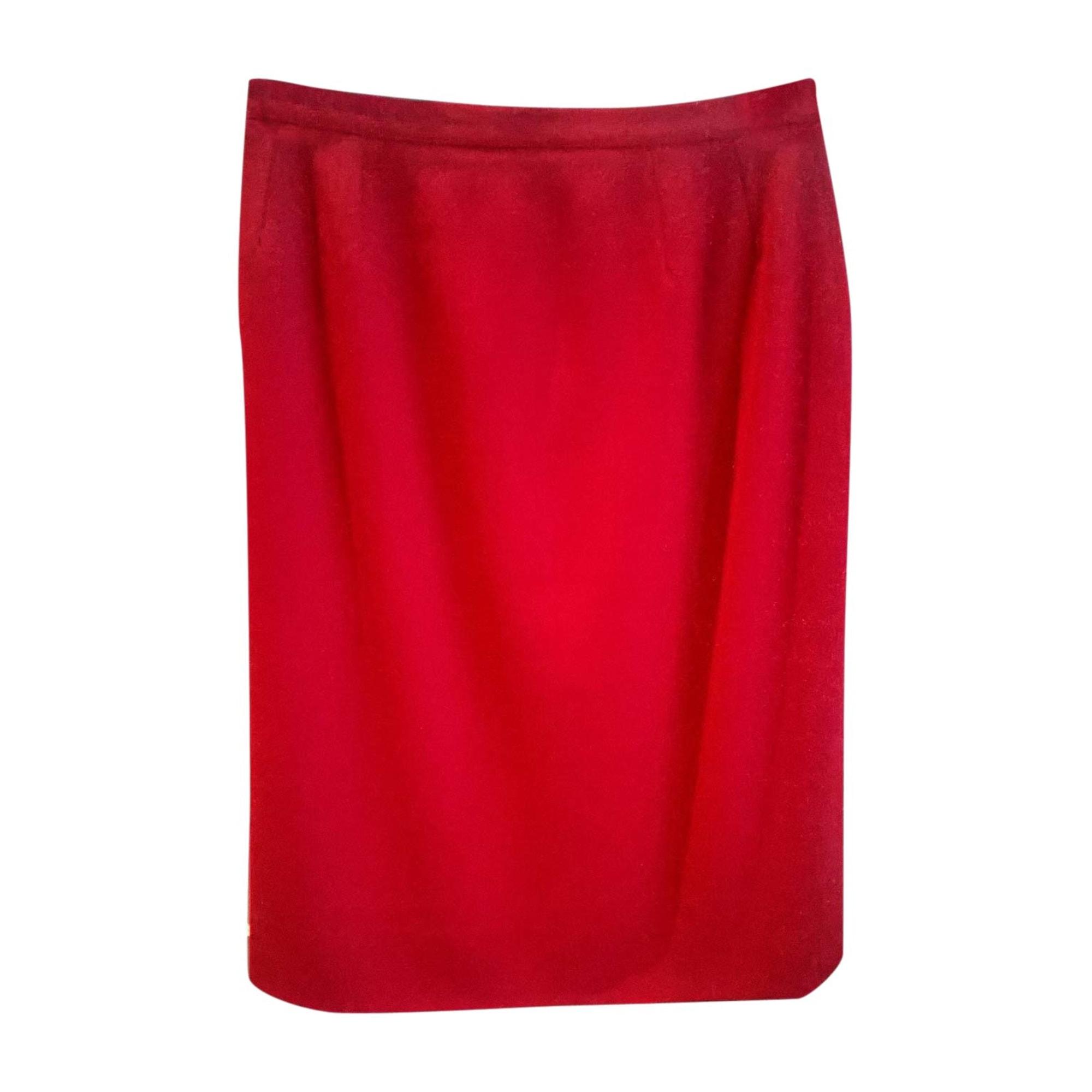 Jupe mi-longue KARL LAGERFELD Rouge, bordeaux