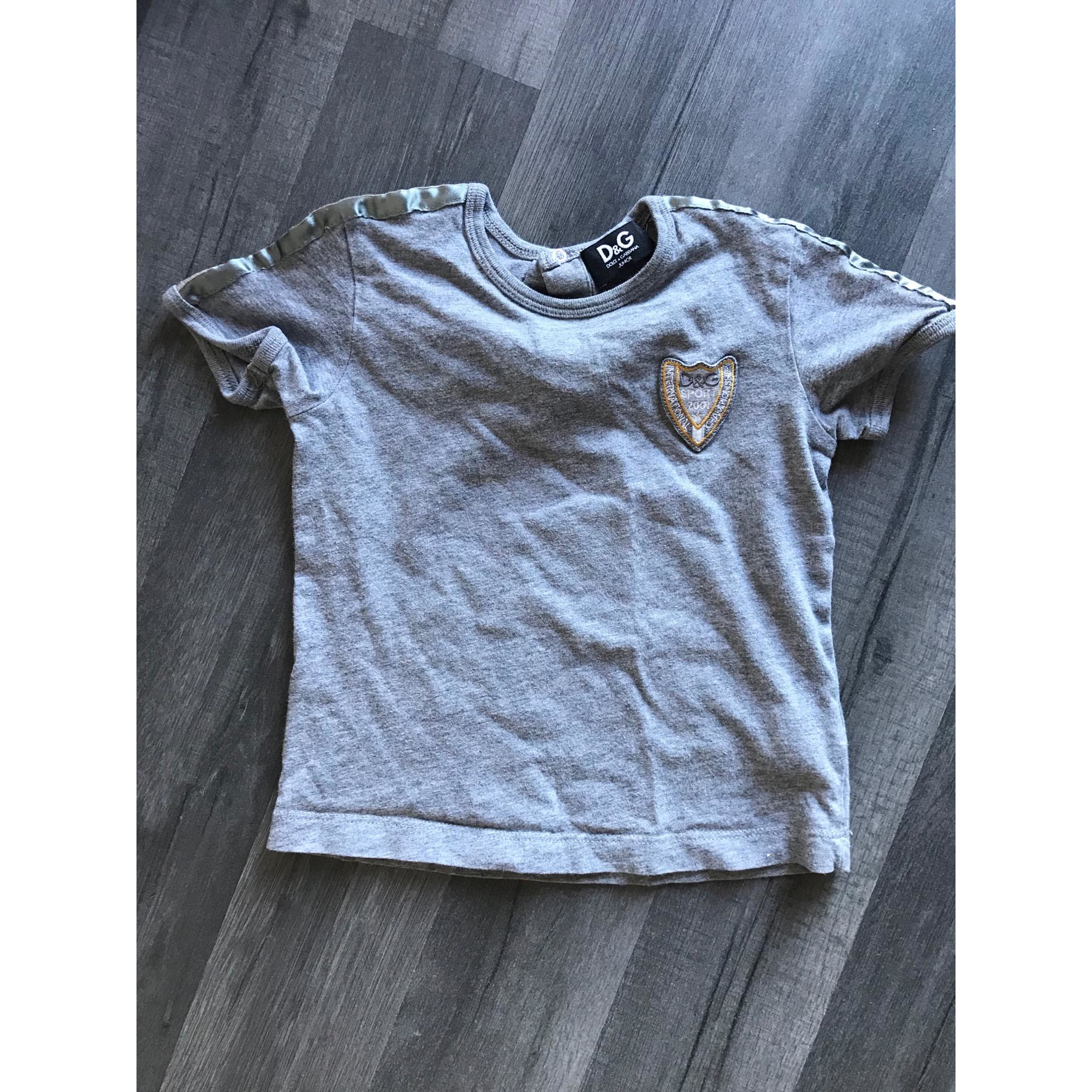 Top, tee shirt DOLCE & GABBANA Gris, anthracite