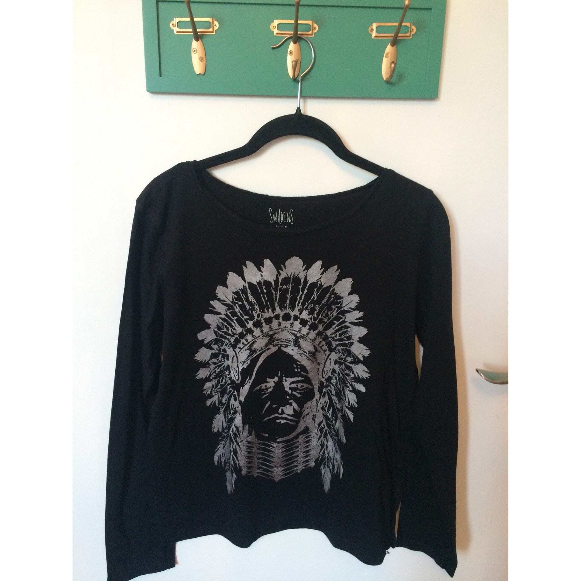 Top, Tee-shirt SWILDENS Noir