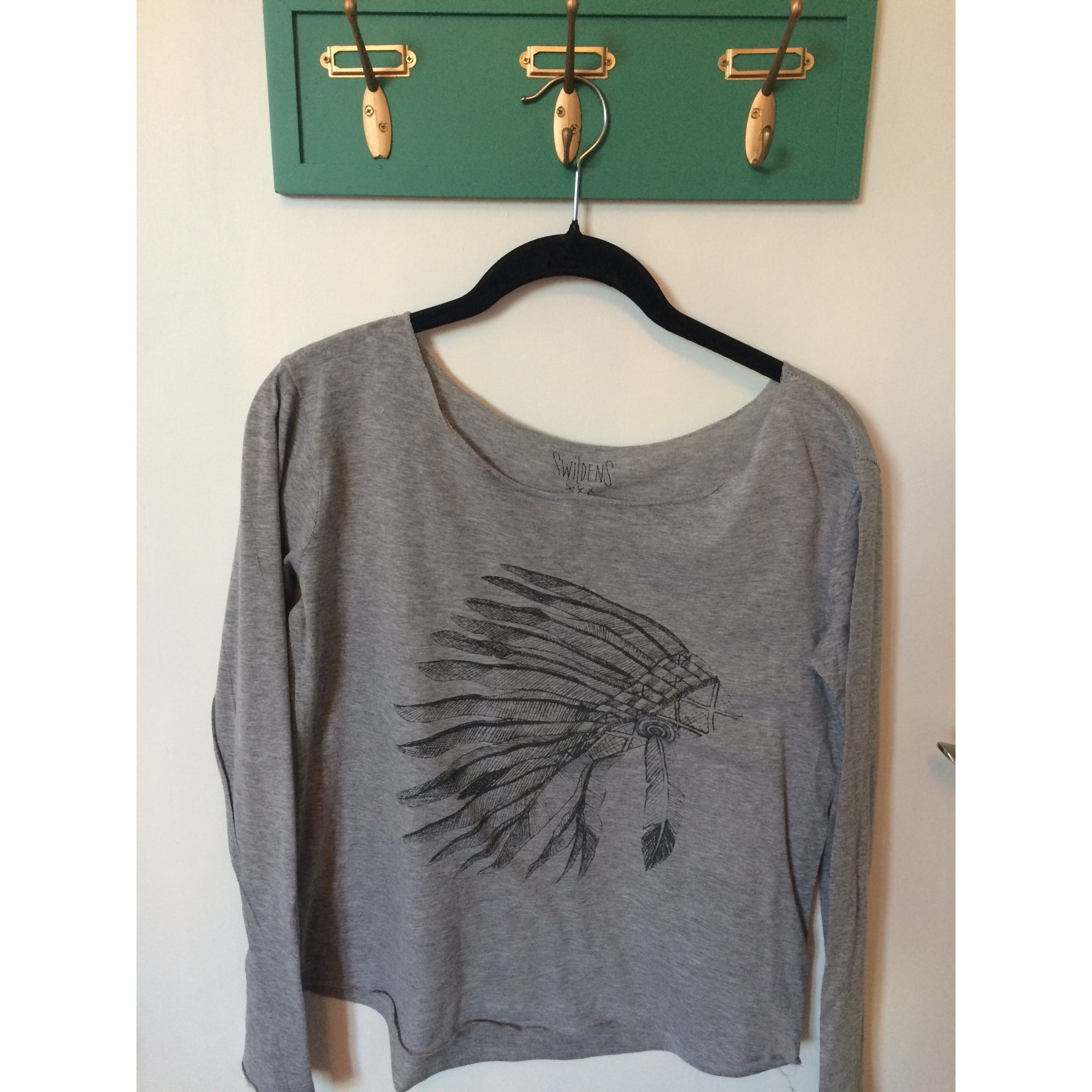 Top, Tee-shirt SWILDENS Gris, anthracite
