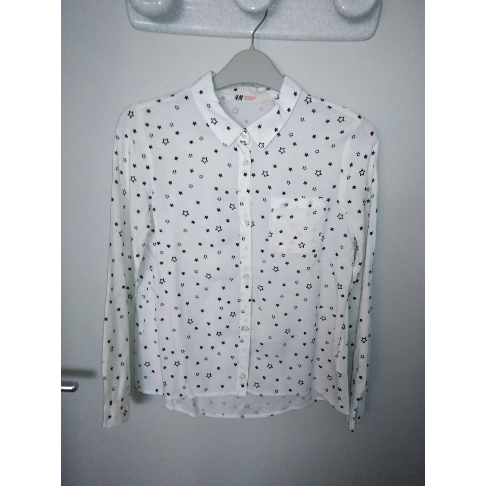 Blouse H&M Blanc, blanc cassé, écru