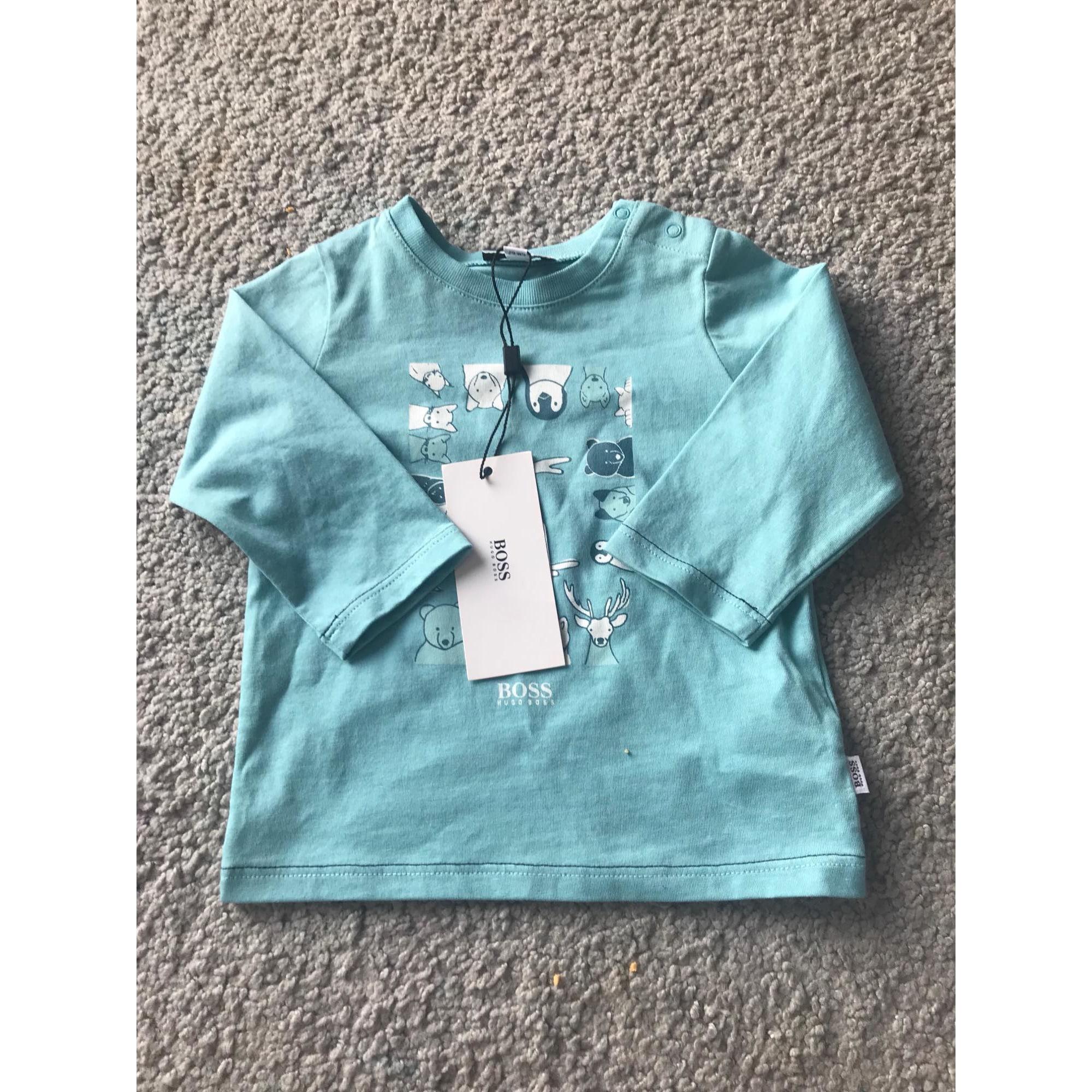 Top, tee shirt HUGO BOSS Bleu, bleu marine, bleu turquoise