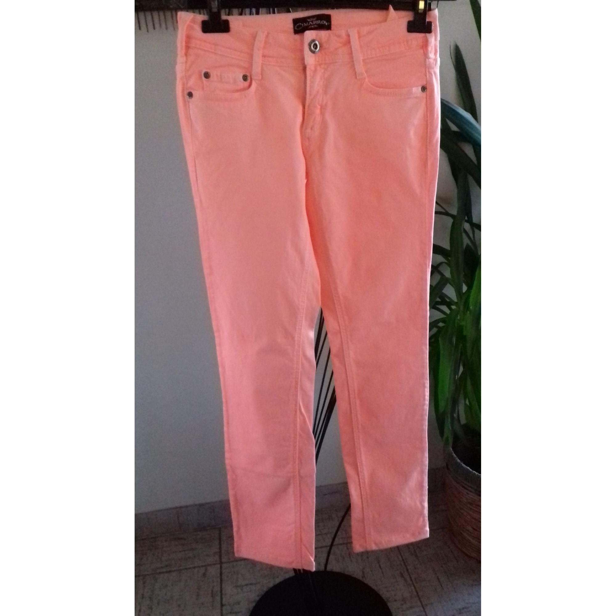 Pantalon slim, cigarette CIMARRON Orange