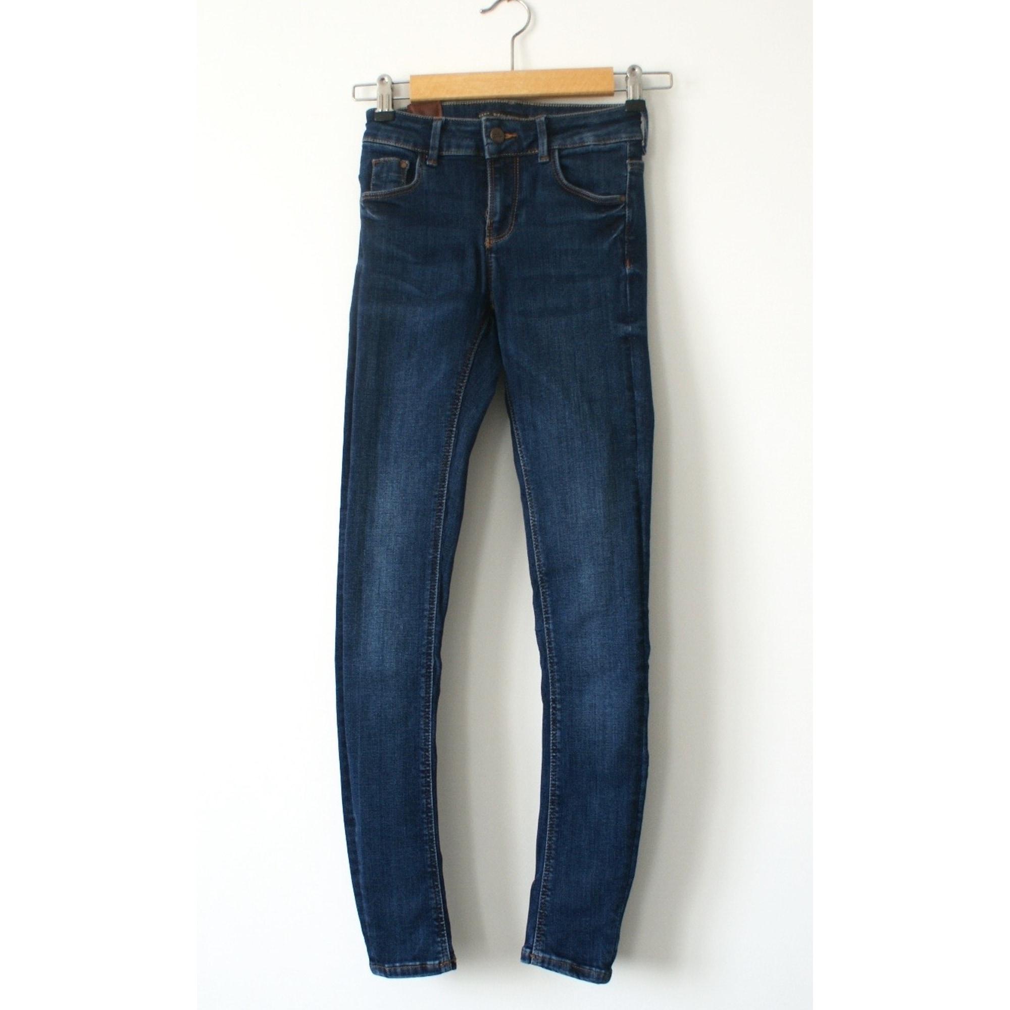 Jeans slim ZARA Bleu, bleu marine, bleu turquoise