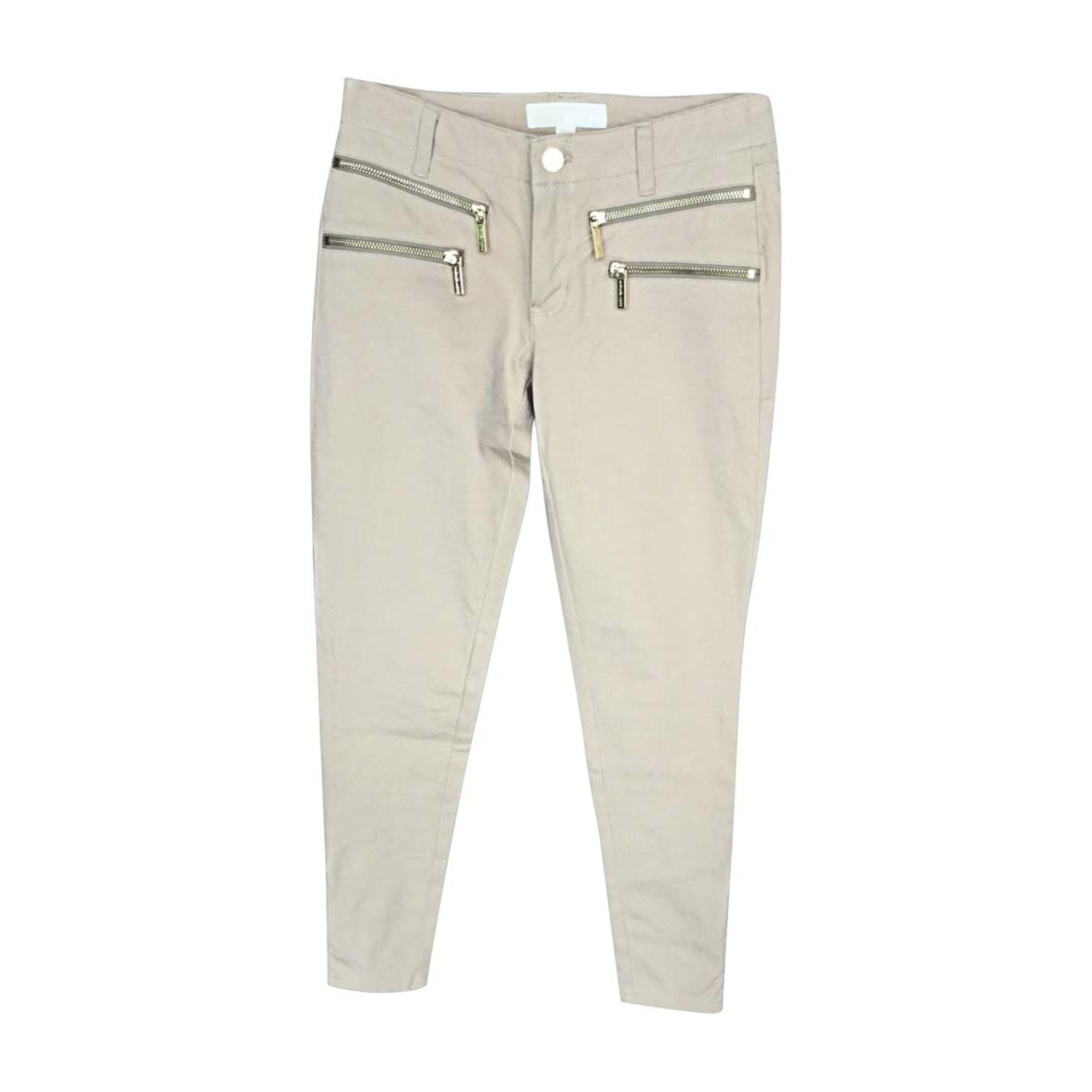 Pantalon slim, cigarette MICHAEL KORS Beige, camel