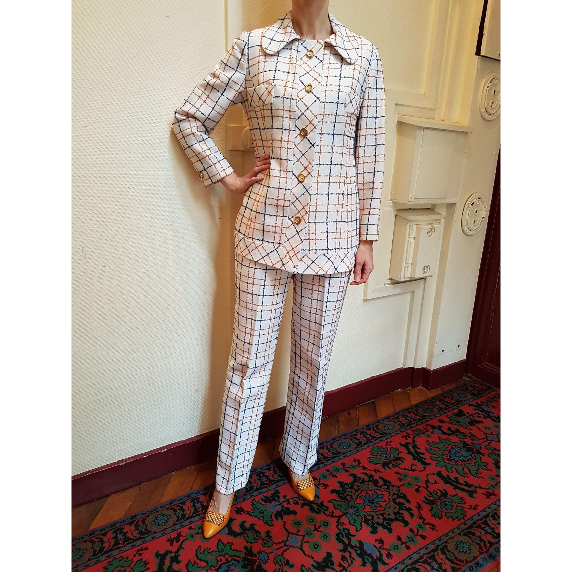 Tailleur pantalon TAILORED BY KIRKLAND HALL U.S.A Blanc, blanc cassé, écru