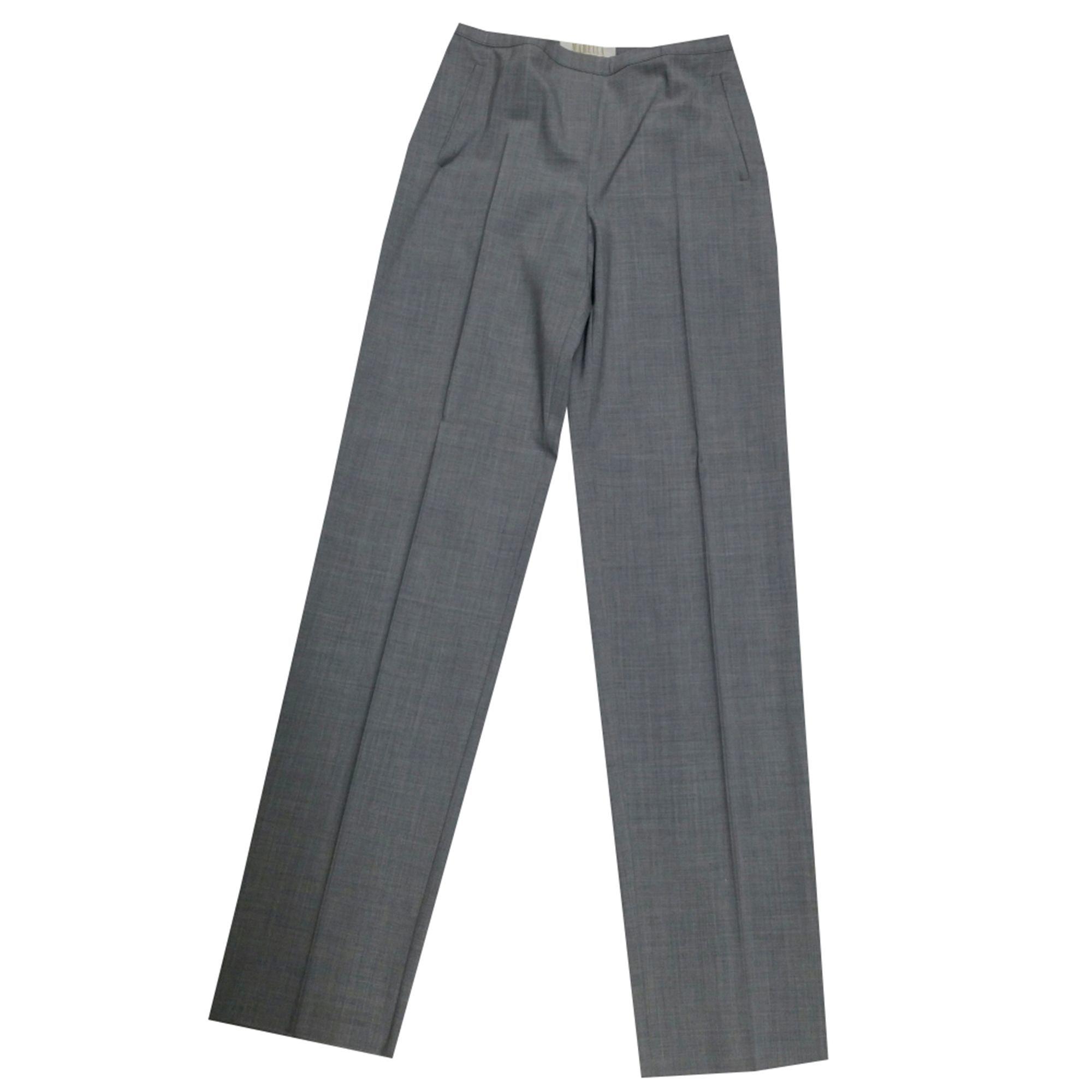 Pantalon droit MARELLA Gris, anthracite