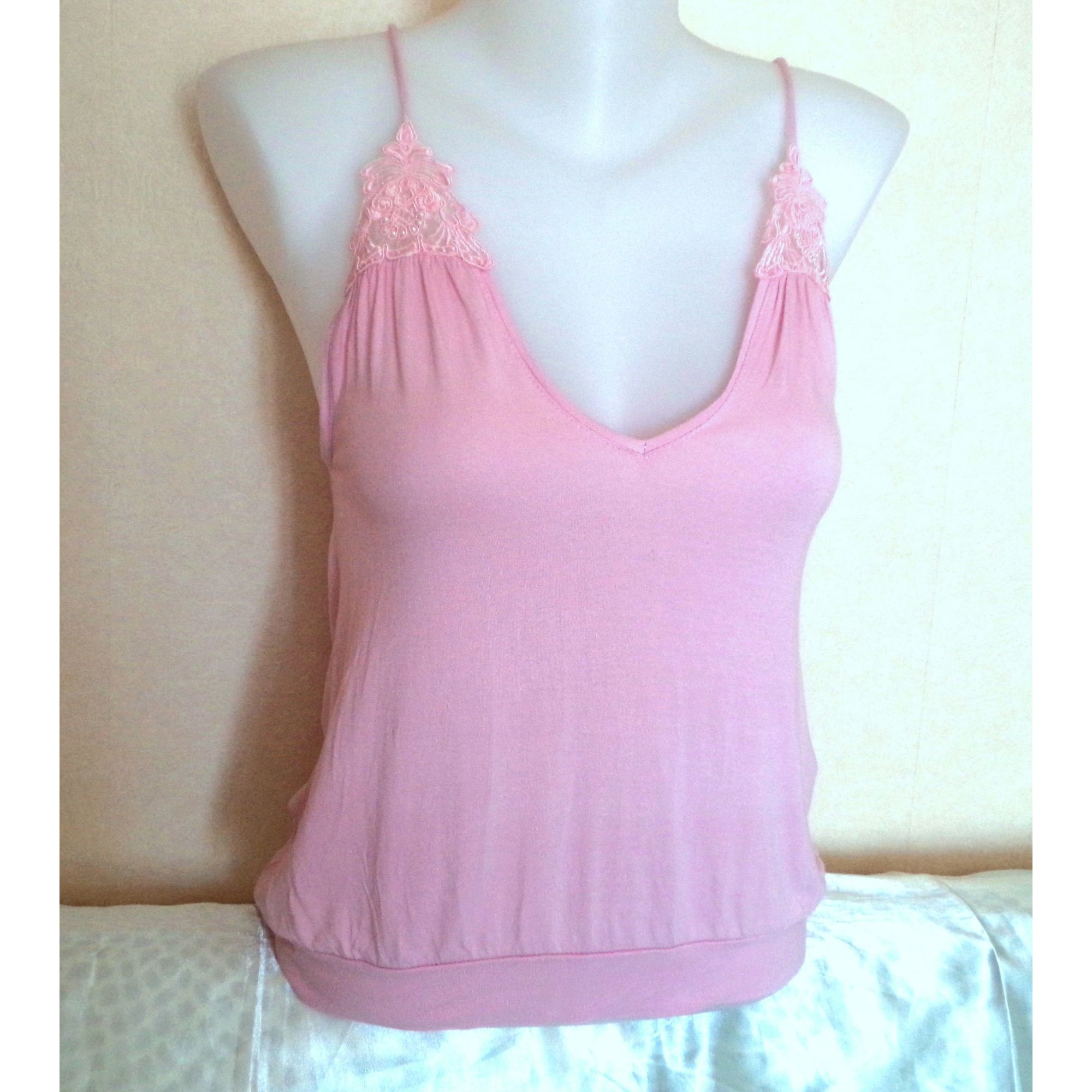 Top, tee-shirt ZARA Rose, fuschia, vieux rose