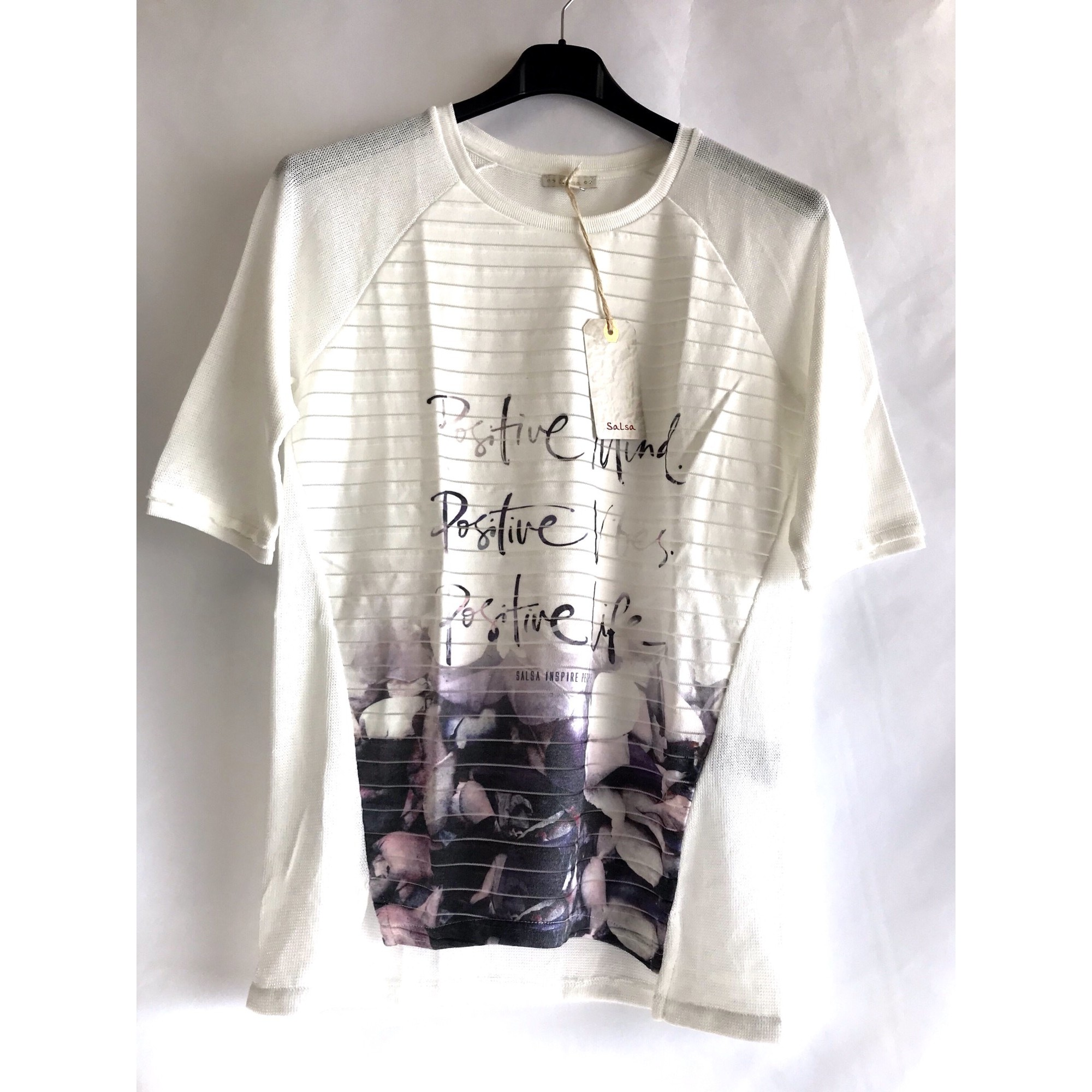 Top, tee-shirt SALSA Blanc, blanc cassé, écru