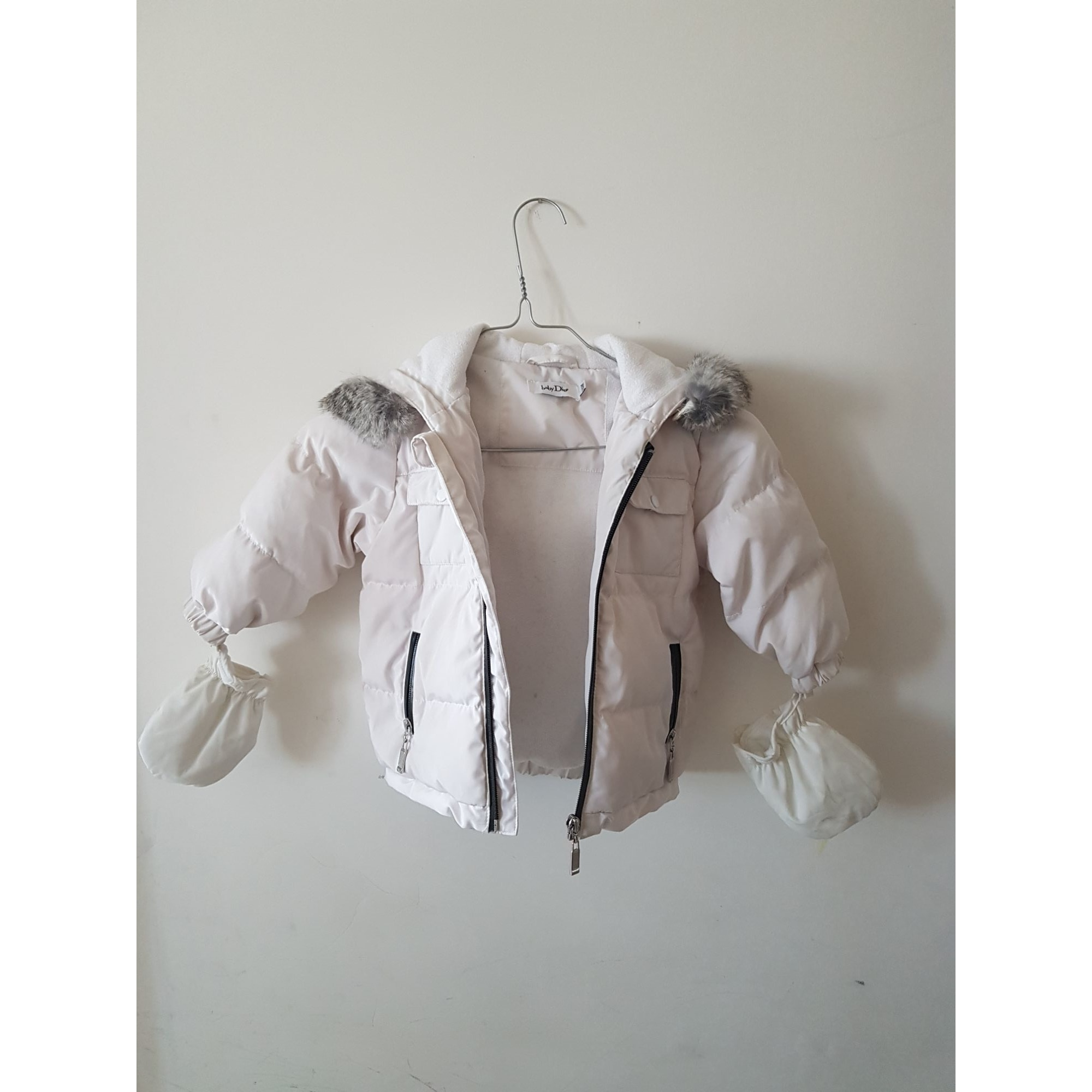 Down Jacket BABY DIOR White, off-white, ecru